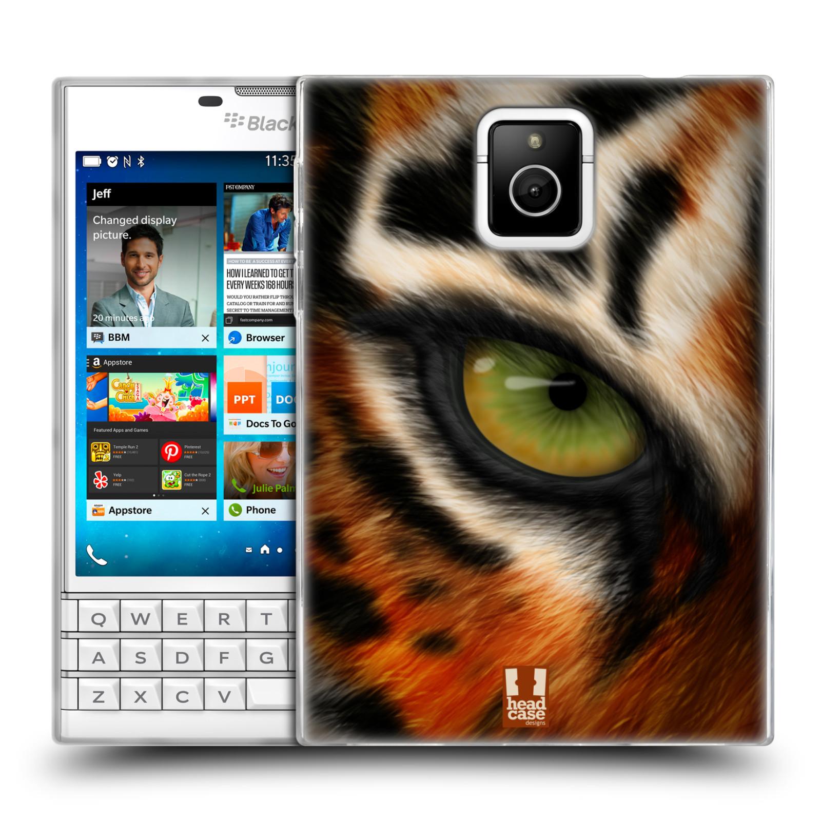 HEAD CASE silikonový obal na mobil Blackberry PASSPORT vzor pohled zvířete oko tygr