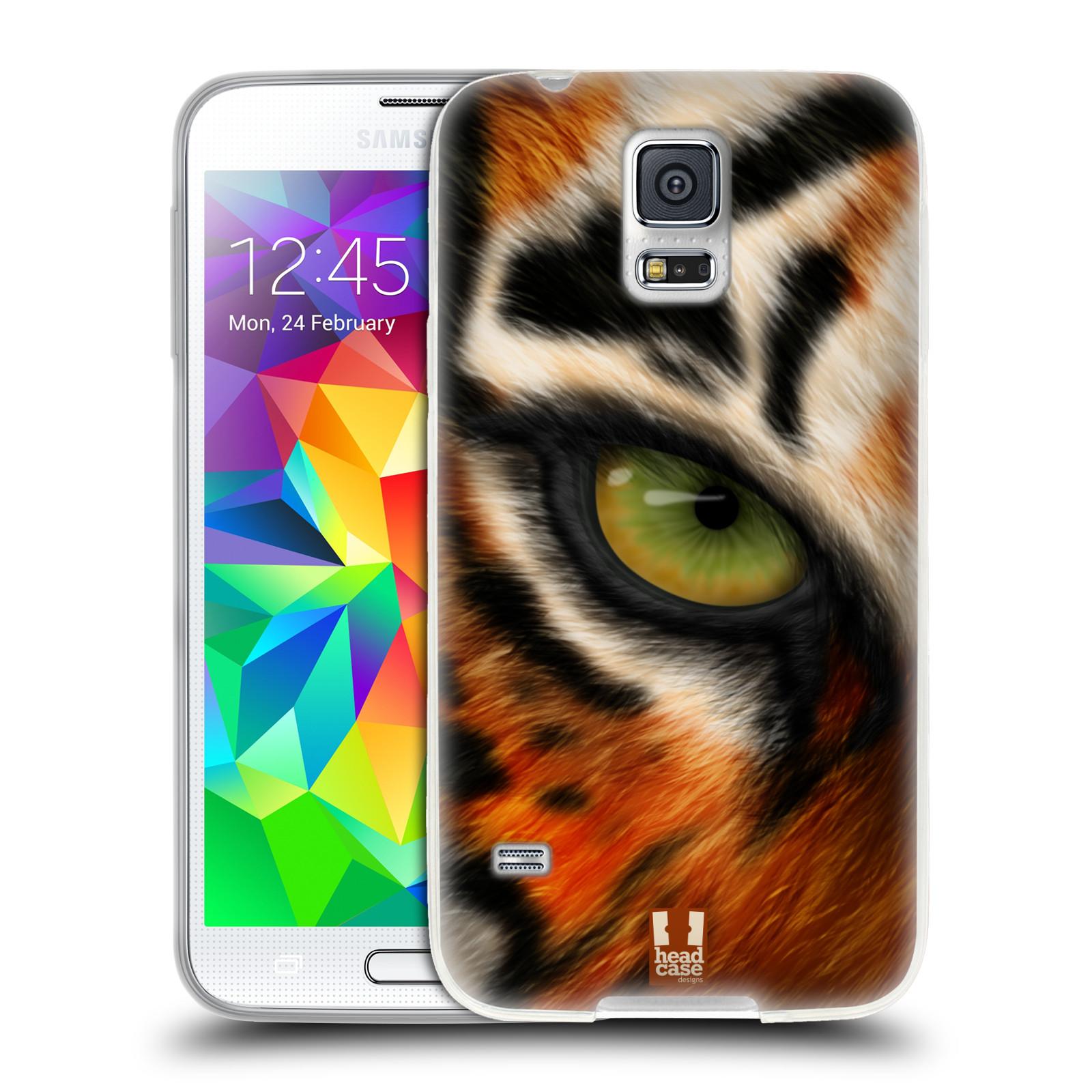 HEAD CASE silikonový obal na mobil Samsung Galaxy S5/S5 NEO vzor pohled zvířete oko tygr