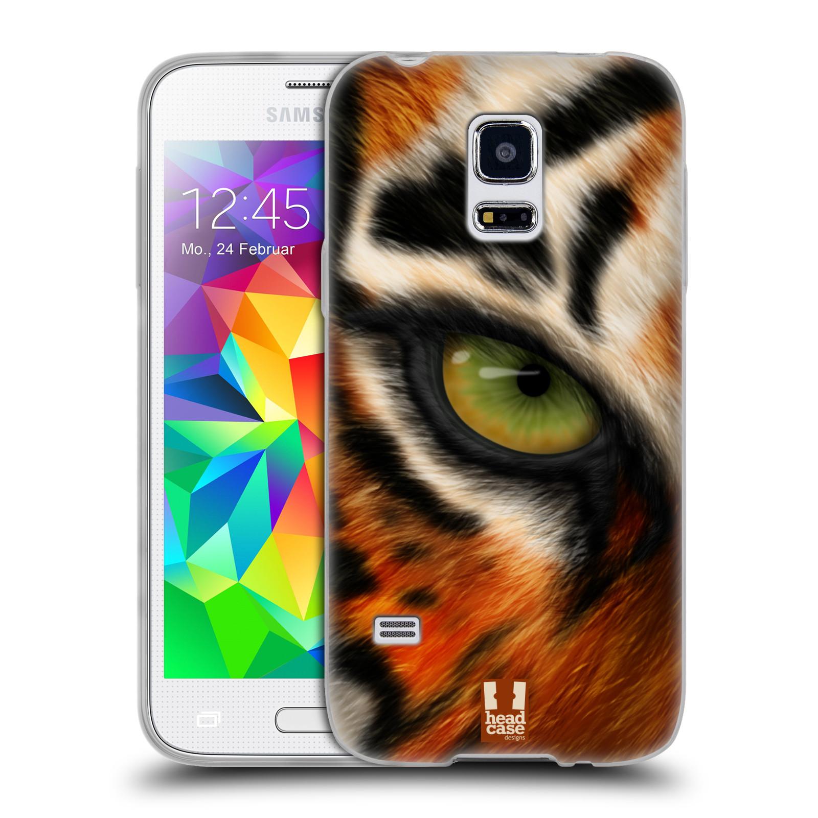 HEAD CASE silikonový obal na mobil Samsung Galaxy S5 MINI vzor pohled zvířete oko tygr