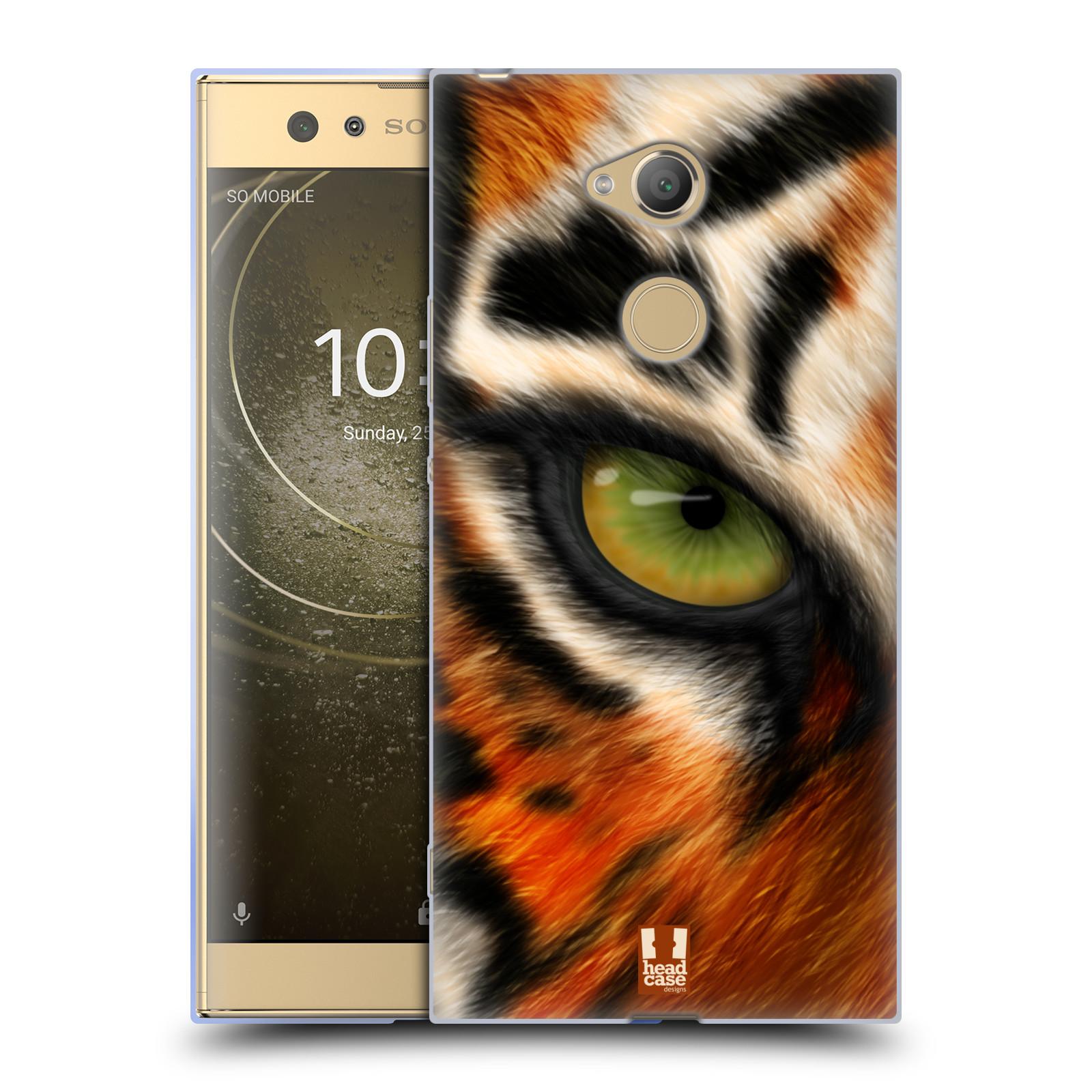 Pouzdro na mobil Sony Xperia XA2 Ultra vzor pohled zvířete oko tygr