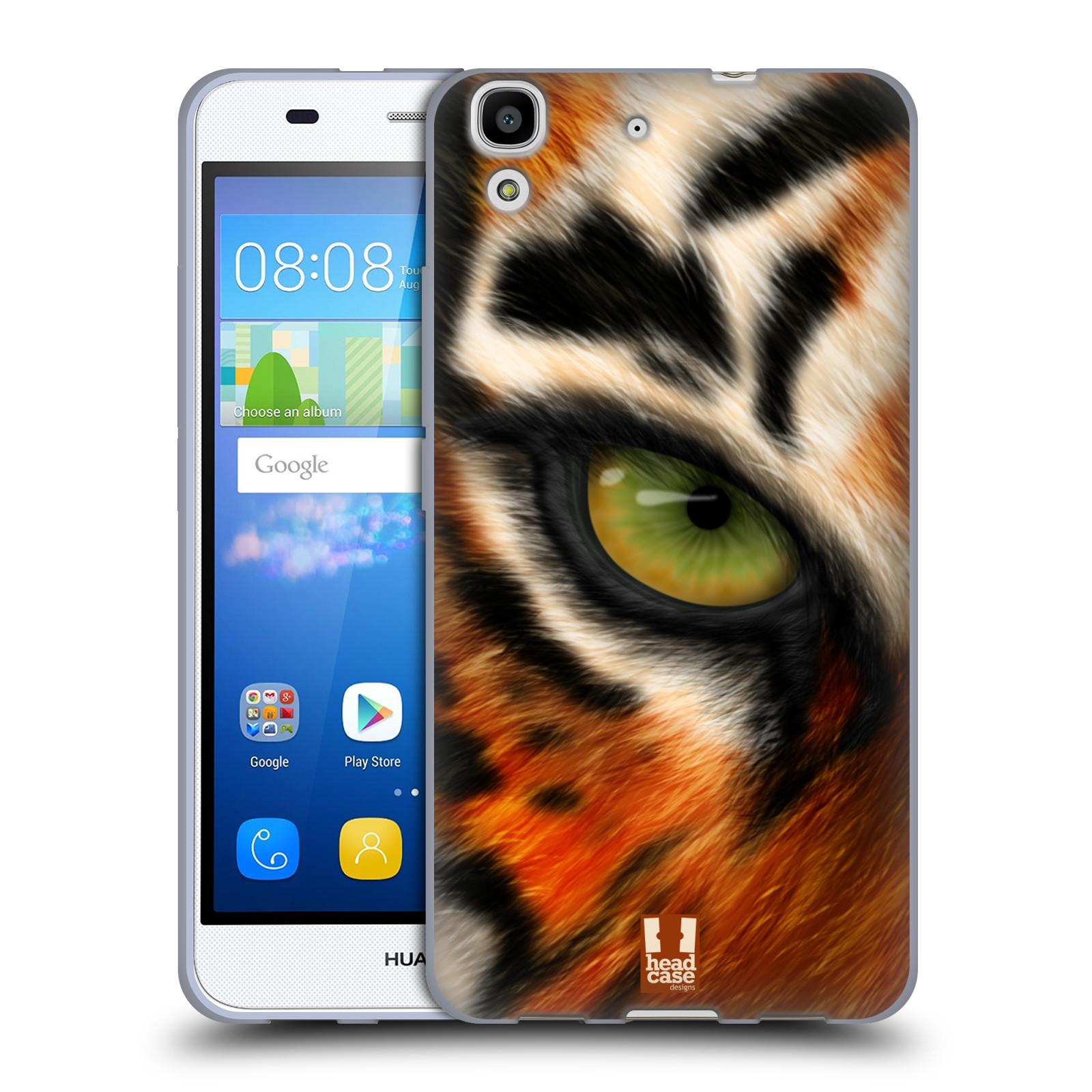 HEAD CASE silikonový obal na mobil HUAWEI Y6 vzor pohled zvířete oko tygr