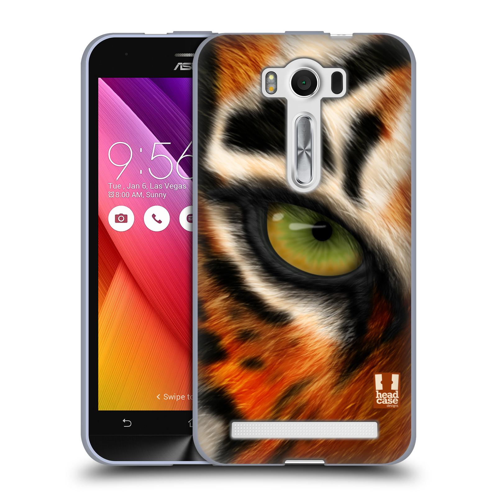 "HEAD CASE silikonový obal na mobil Asus Zenfone 2 LASER (ZE500KL s 5"" displejem) vzor pohled zvířete oko tygr"