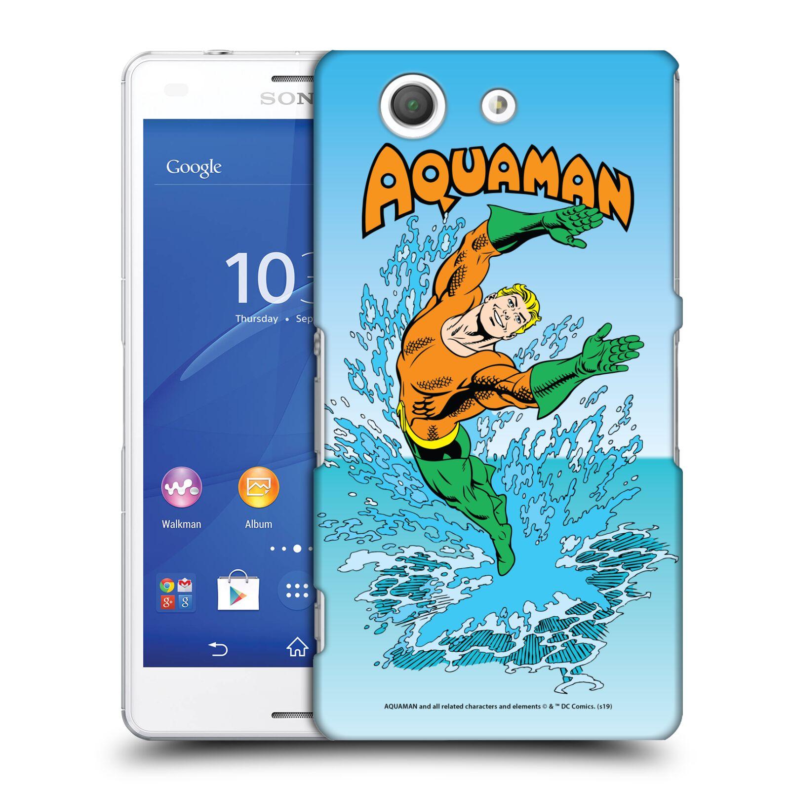 Pouzdro na mobil Sony Xperia Z3 COMPACT - HEAD CASE - DC komix Aquaman