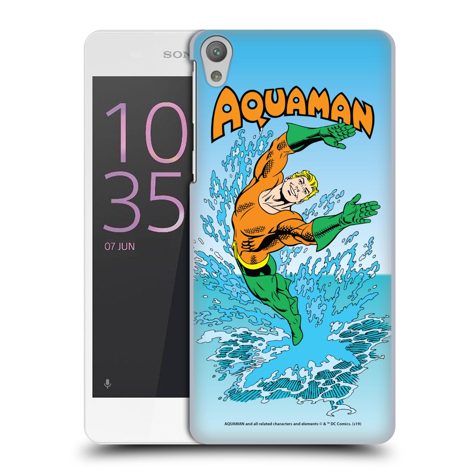 Pouzdro na mobil Sony Xperia E5 - HEAD CASE - DC komix Aquaman