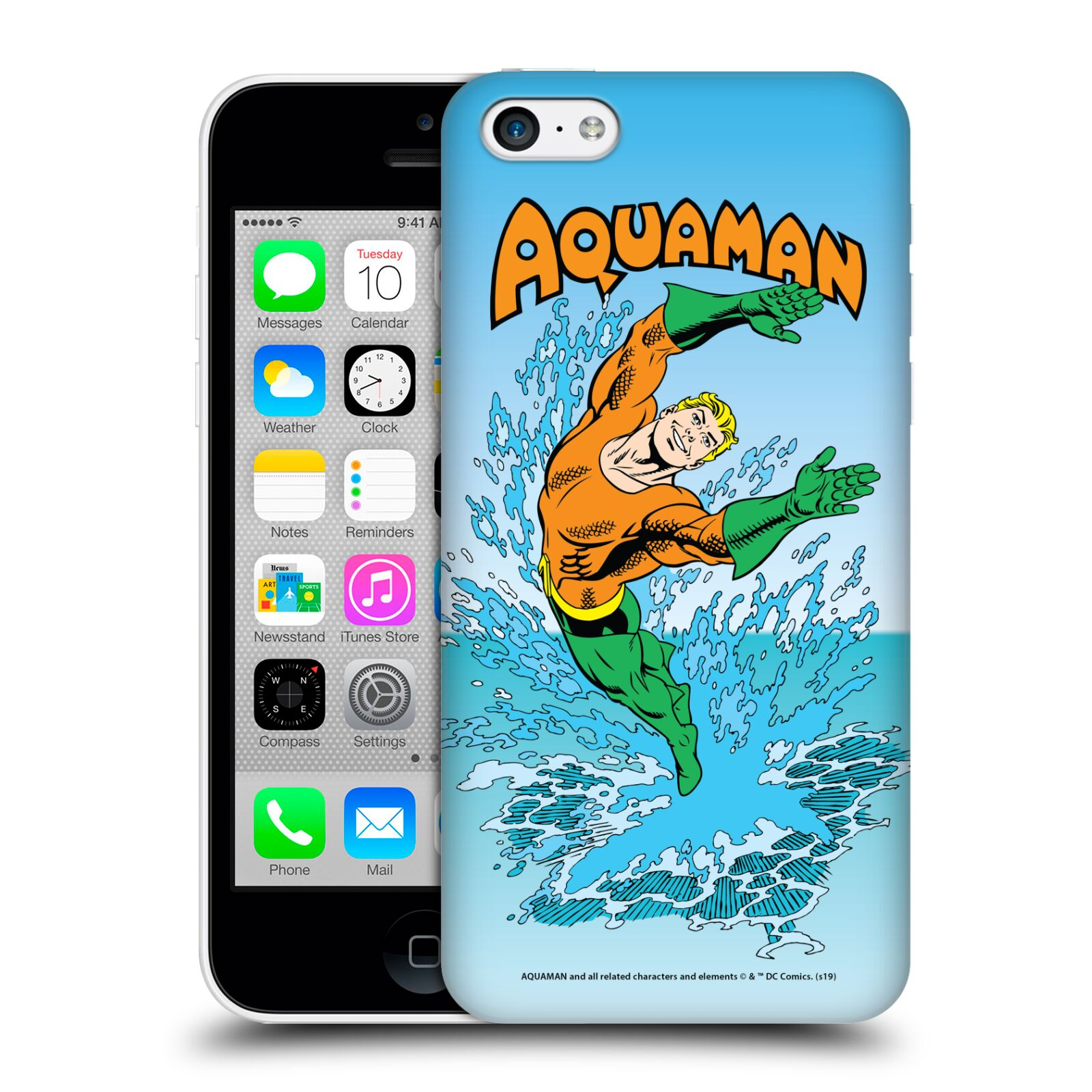 Pouzdro na mobil Apple Iphone 5C - HEAD CASE - DC komix Aquaman