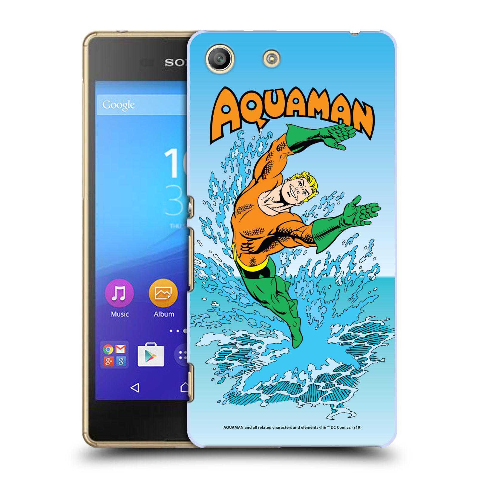 Pouzdro na mobil Sony Xperia M5 - HEAD CASE - DC komix Aquaman