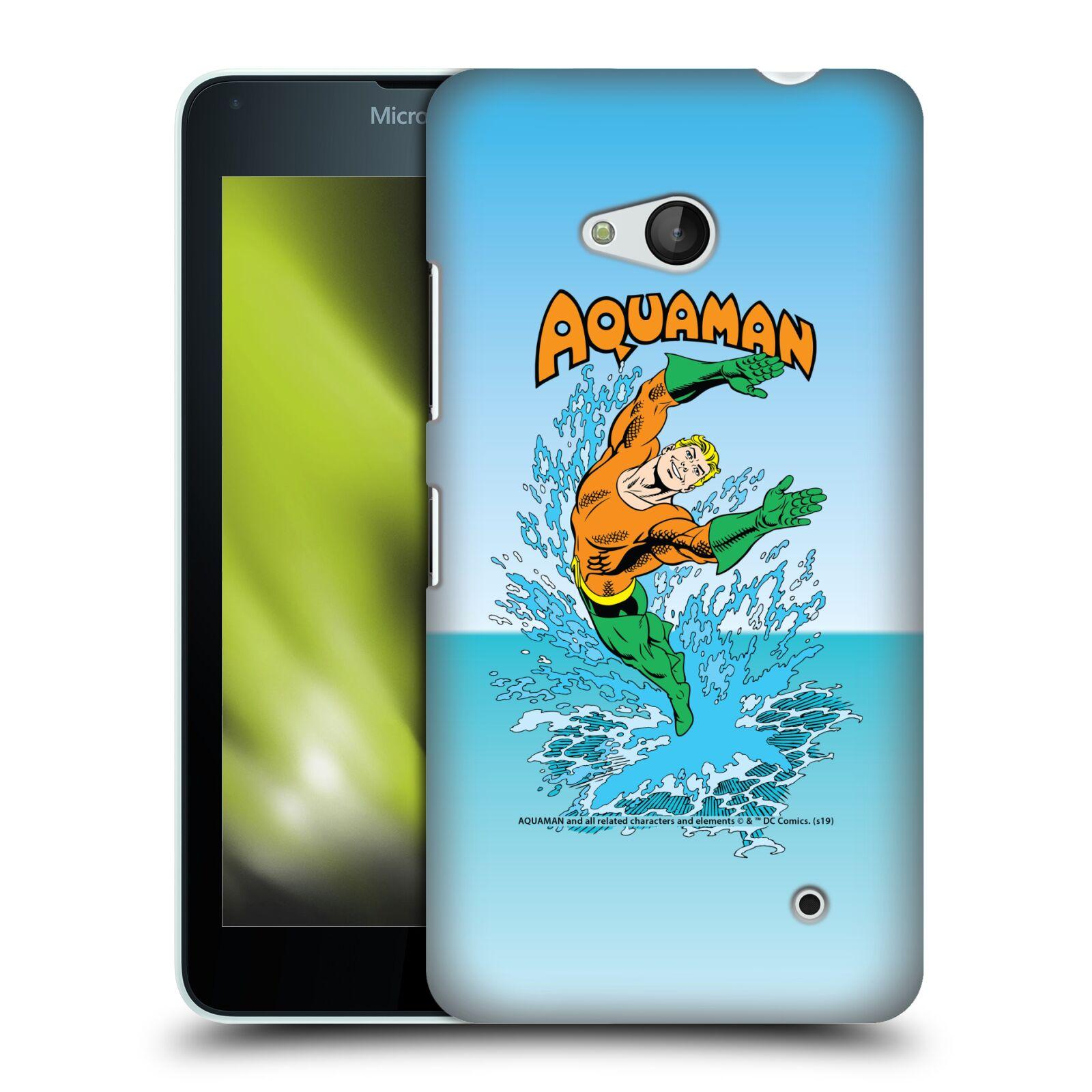 Pouzdro na mobil Microsoft Lumia 640 / 640 DUAL SIM - HEAD CASE - DC komix Aquaman