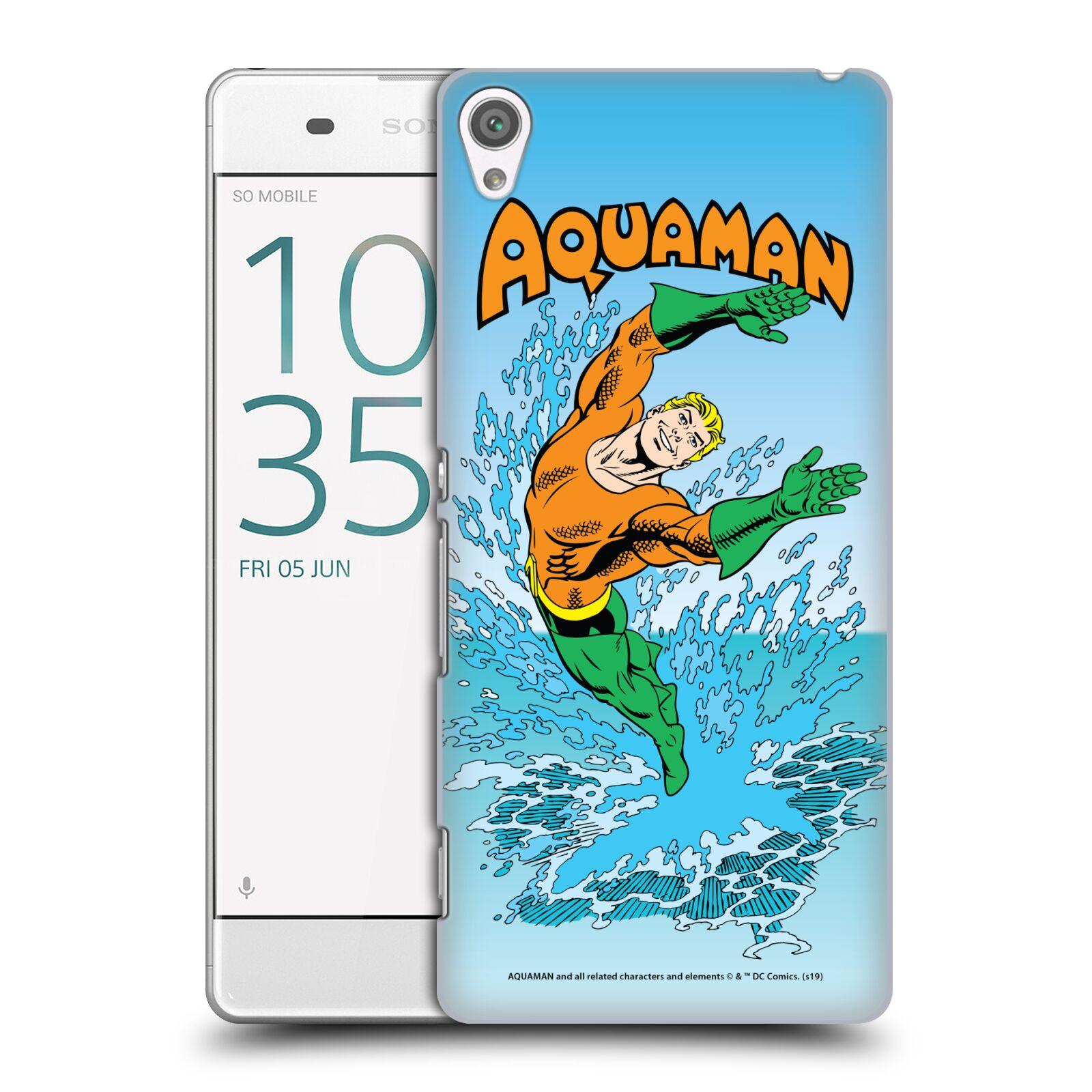 Pouzdro na mobil Sony Xperia XA - HEAD CASE - DC komix Aquaman
