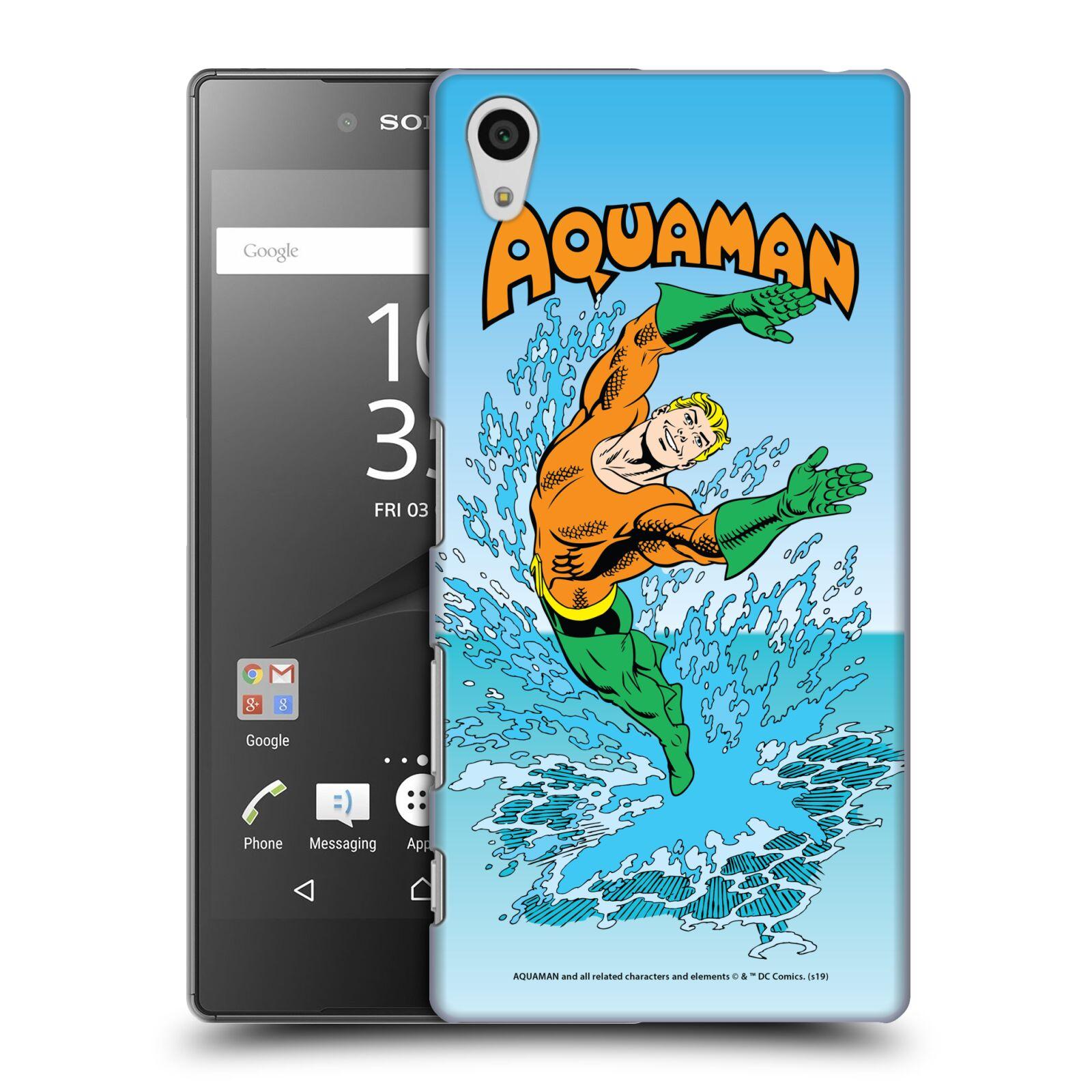 Pouzdro na mobil Sony Xperia Z5 - HEAD CASE - DC komix Aquaman
