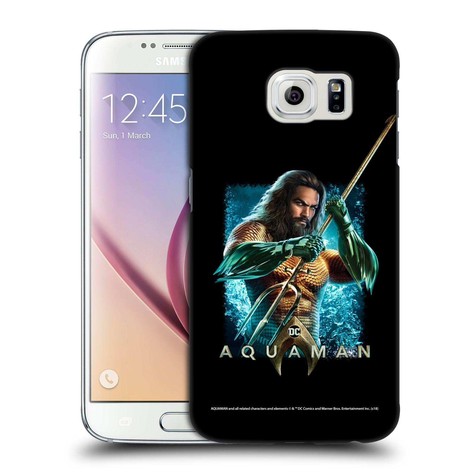 Pouzdro na mobil Samsung Galaxy S6 - HEAD CASE - Aquaman bojová pozice
