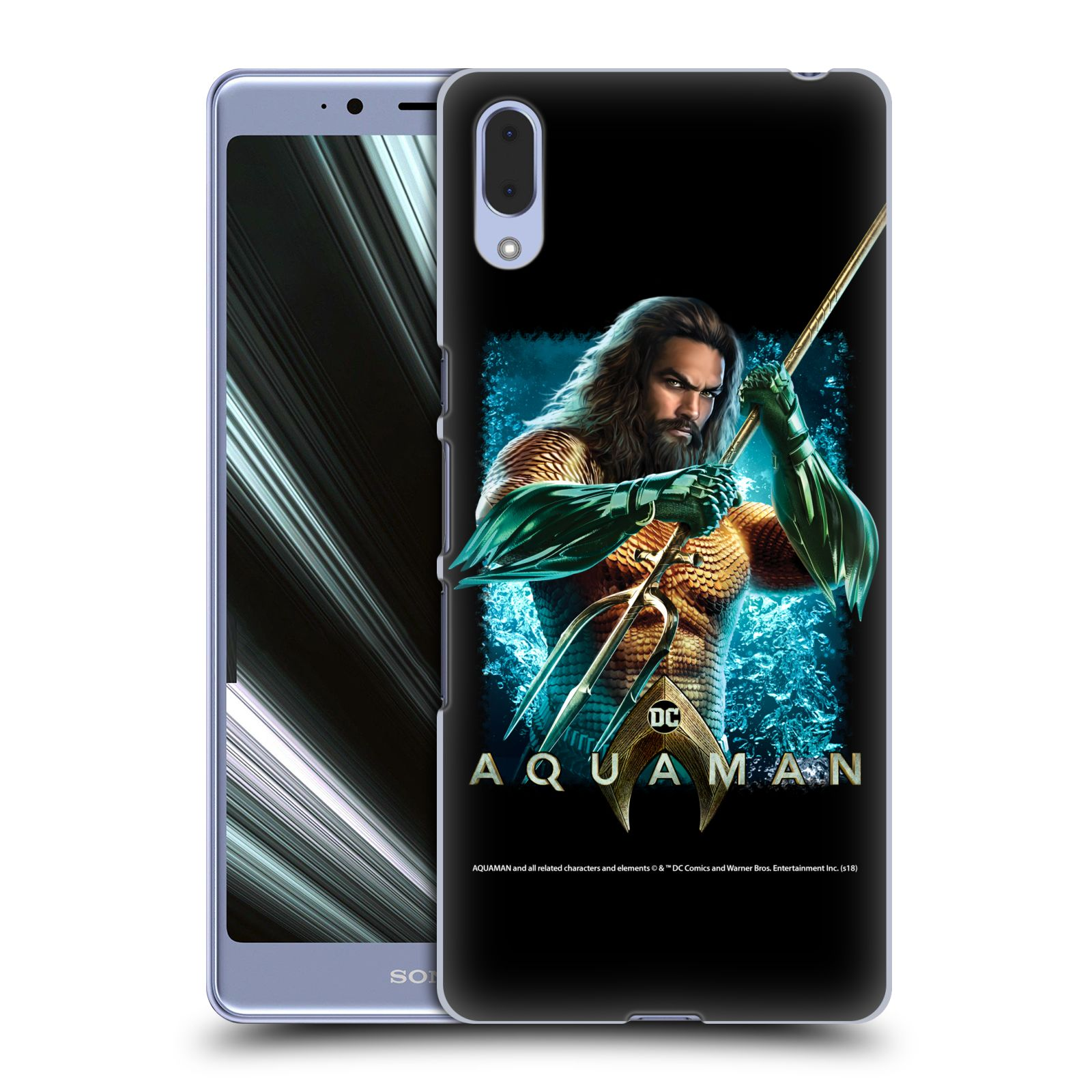 Pouzdro na mobil Sony Xperia L3 - HEAD CASE - Aquaman bojová pozice