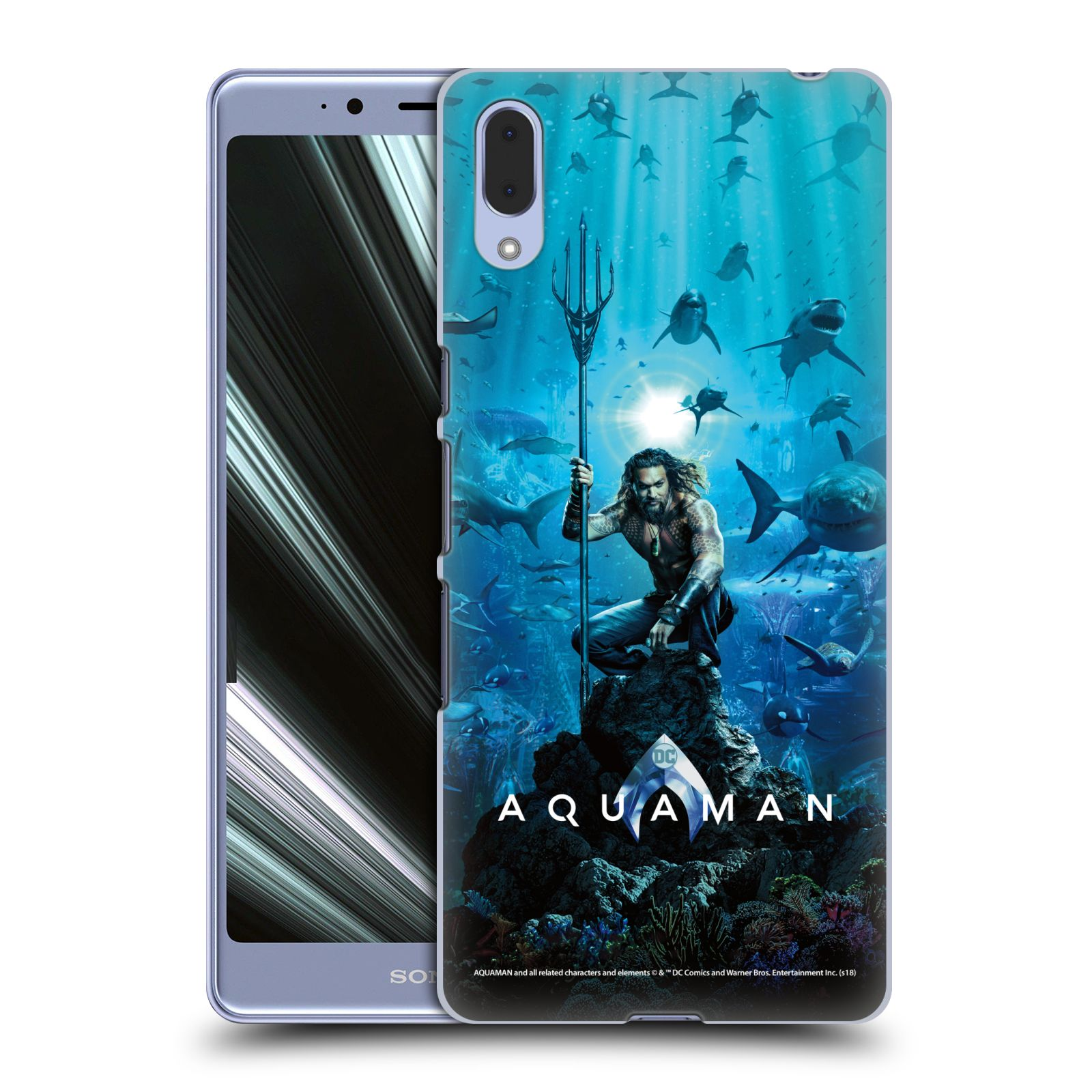 Pouzdro na mobil Sony Xperia L3 - HEAD CASE - Aquaman trojzubec