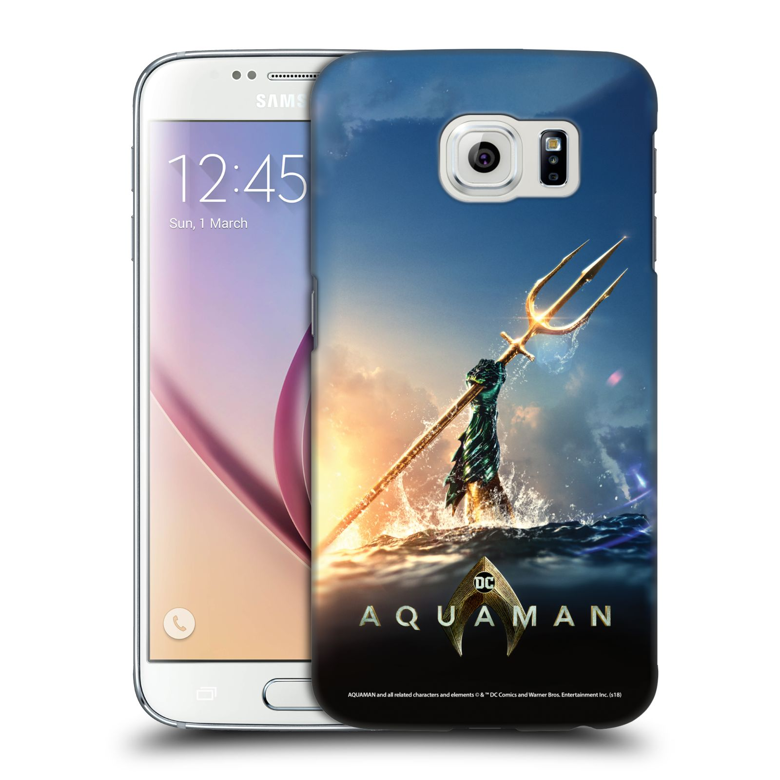 Pouzdro na mobil Samsung Galaxy S6 - HEAD CASE - Aquaman zářící trojzubec