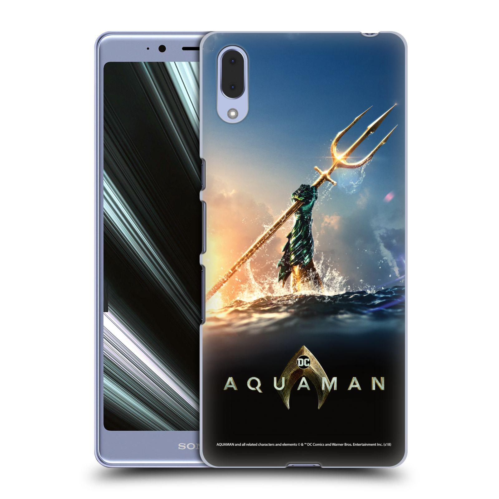 Pouzdro na mobil Sony Xperia L3 - HEAD CASE - Aquaman zářící trojzubec
