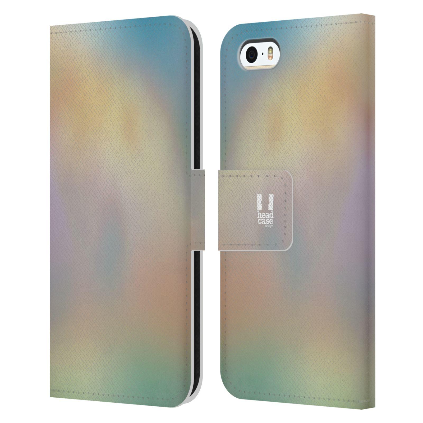 HEAD CASE Flipové pouzdro pro mobil Apple Iphone 5/5s AQUAREL barvy CHILL
