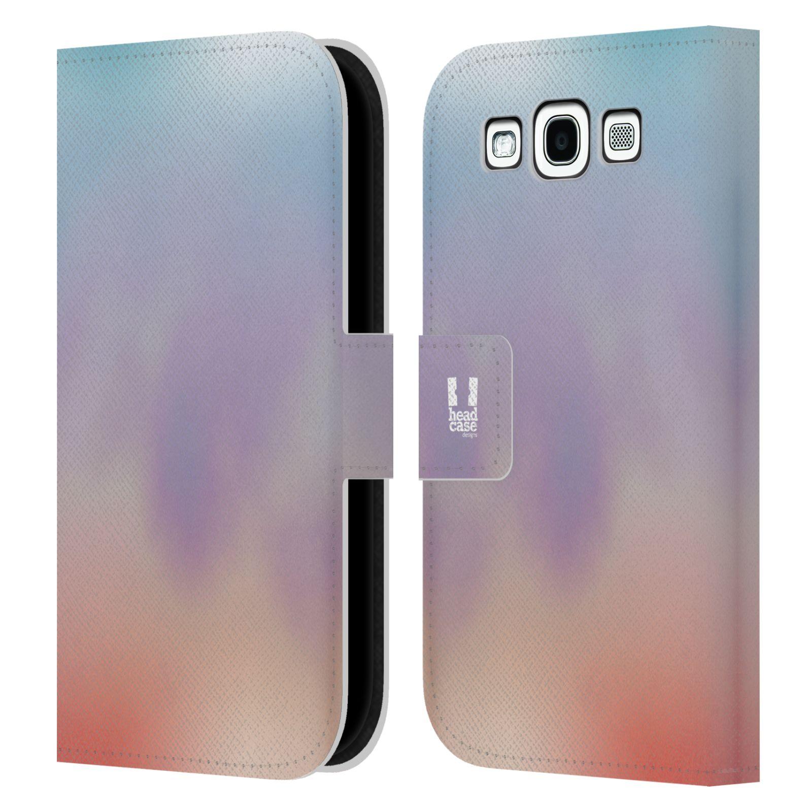 HEAD CASE Flipové pouzdro pro mobil Samsung Galaxy S3 AQUAREL barvy LIGHT