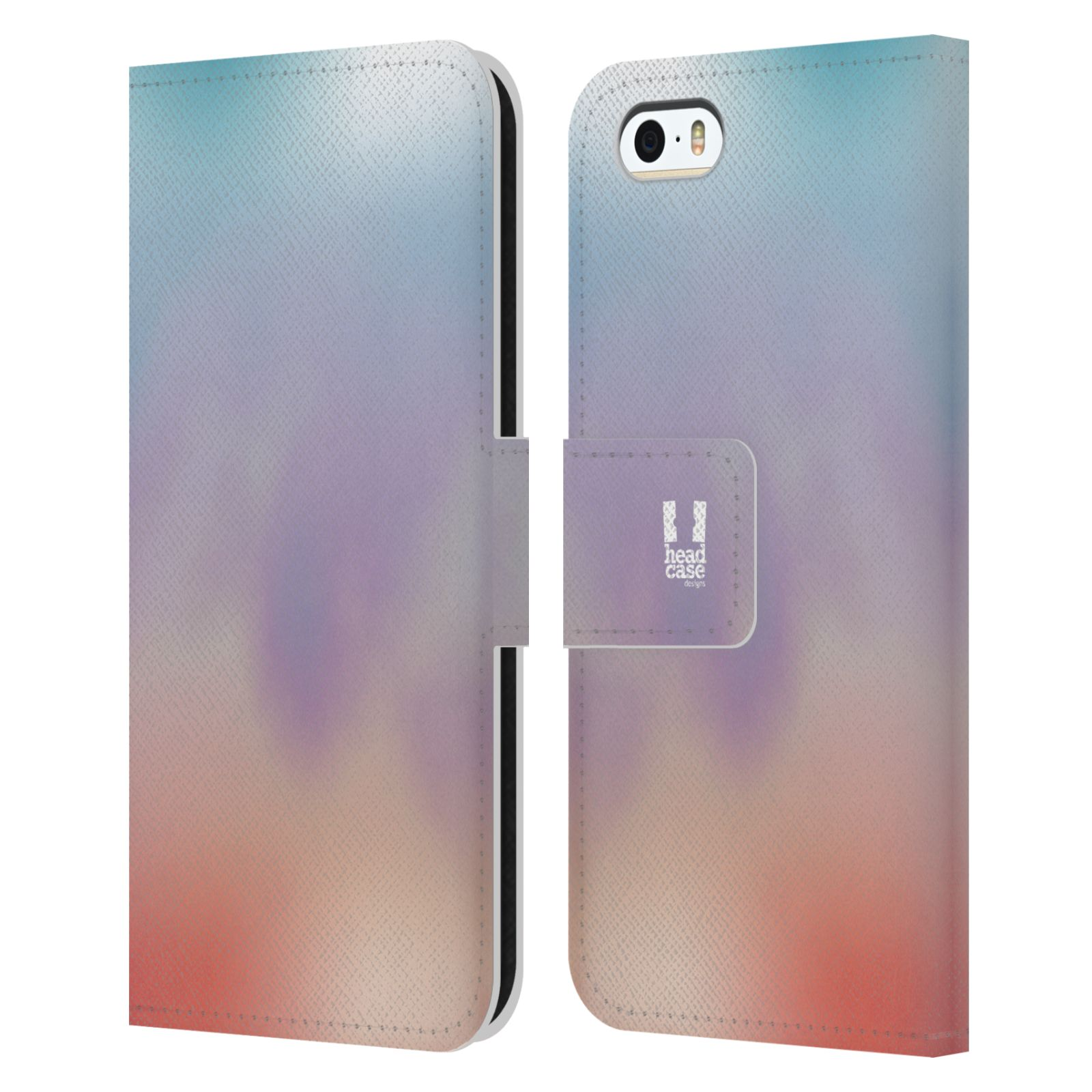 HEAD CASE Flipové pouzdro pro mobil Apple Iphone 5/5s AQUAREL barvy LIGHT