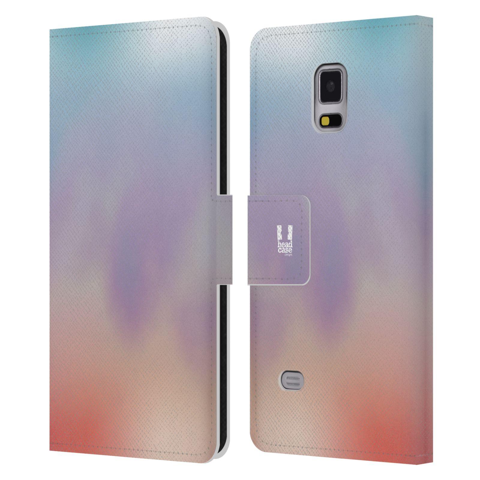 HEAD CASE Flipové pouzdro pro mobil Samsung Galaxy Note 4 AQUAREL barvy LIGHT