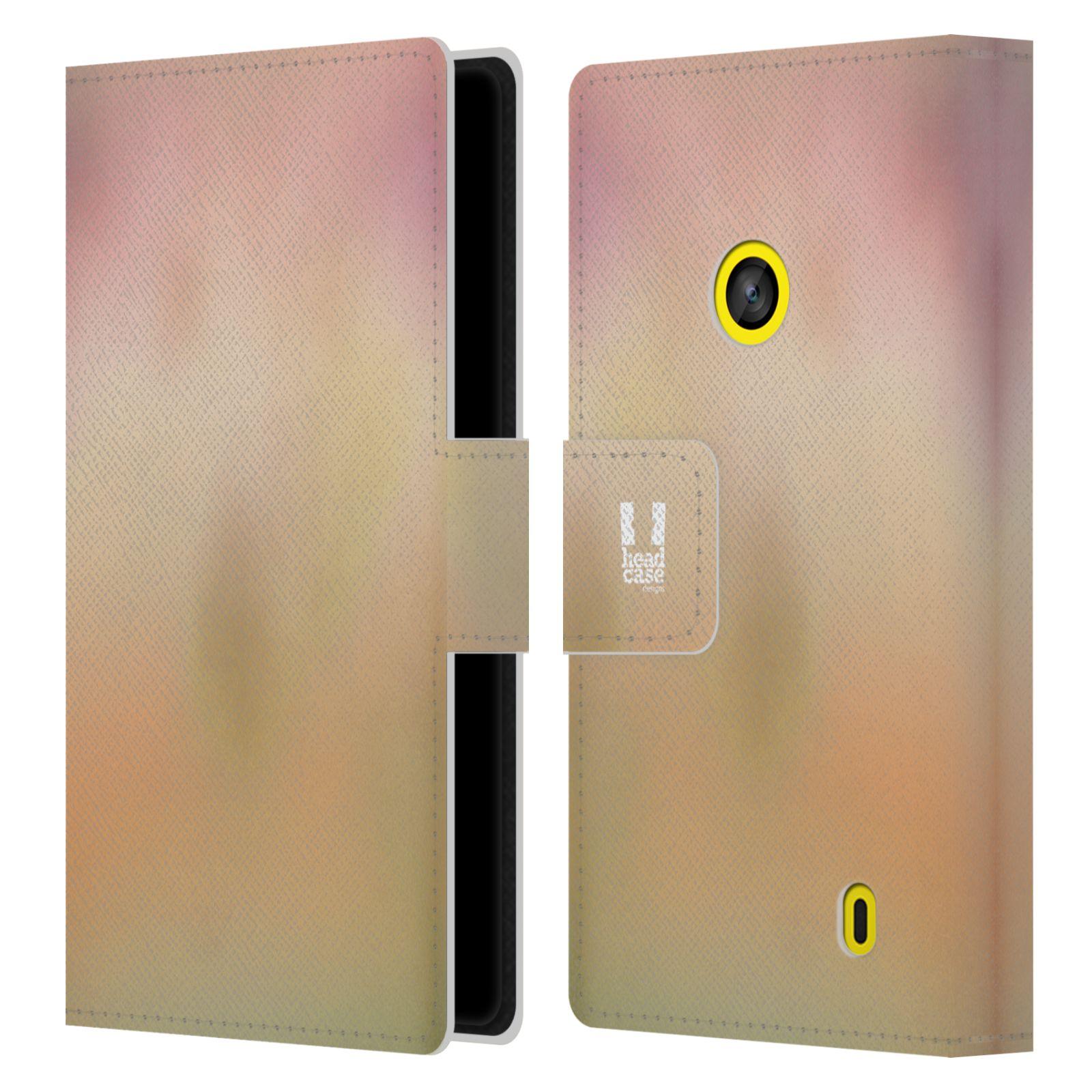 HEAD CASE Flipové pouzdro pro mobil NOKIA LUMIA 520 / 525 AQUAREL barvy NOSTALGIE