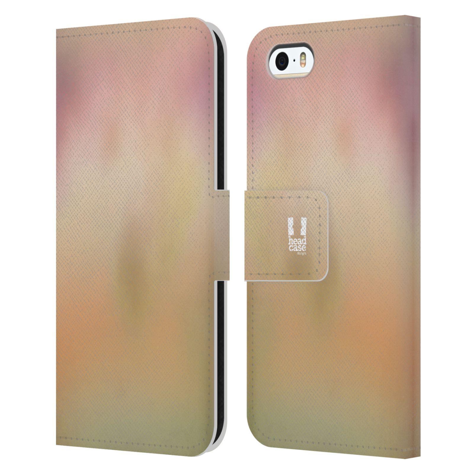 HEAD CASE Flipové pouzdro pro mobil Apple Iphone 5/5s AQUAREL barvy NOSTALGIE