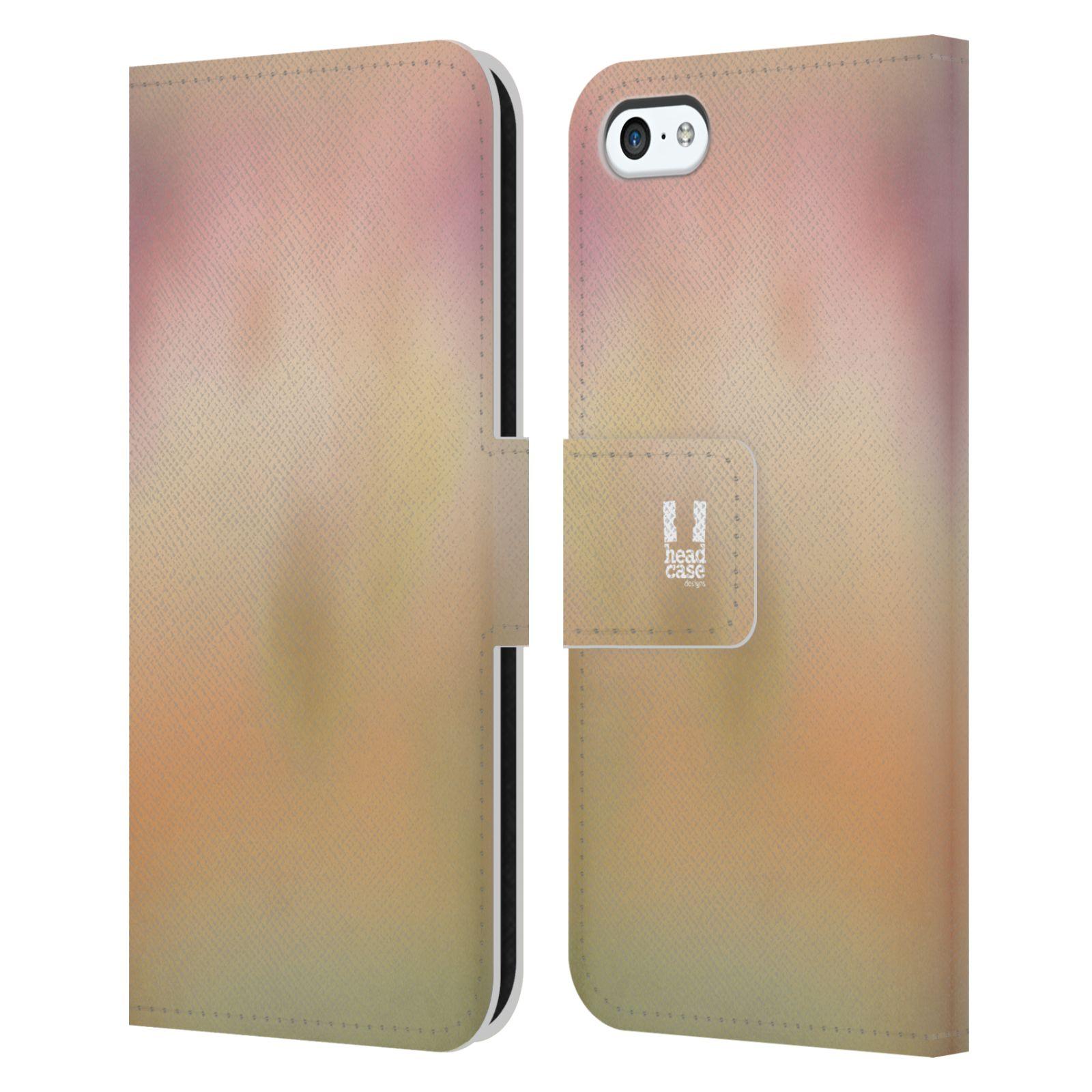 HEAD CASE Flipové pouzdro pro mobil Apple Iphone 5C AQUAREL barvy NOSTALGIE
