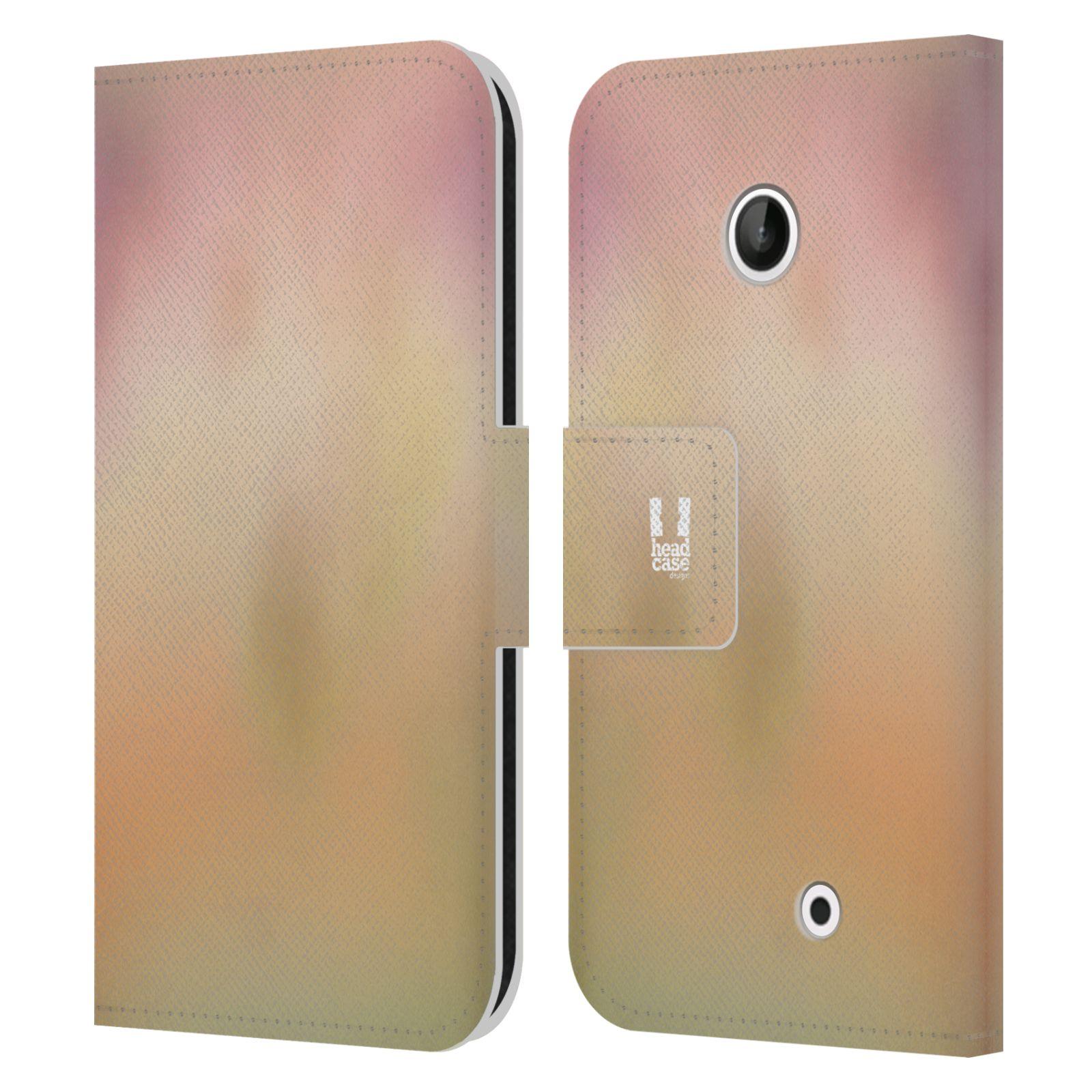 HEAD CASE Flipové pouzdro pro mobil NOKIA LUMIA 630 / LUMIA 630 DUAL AQUAREL barvy NOSTALGIE