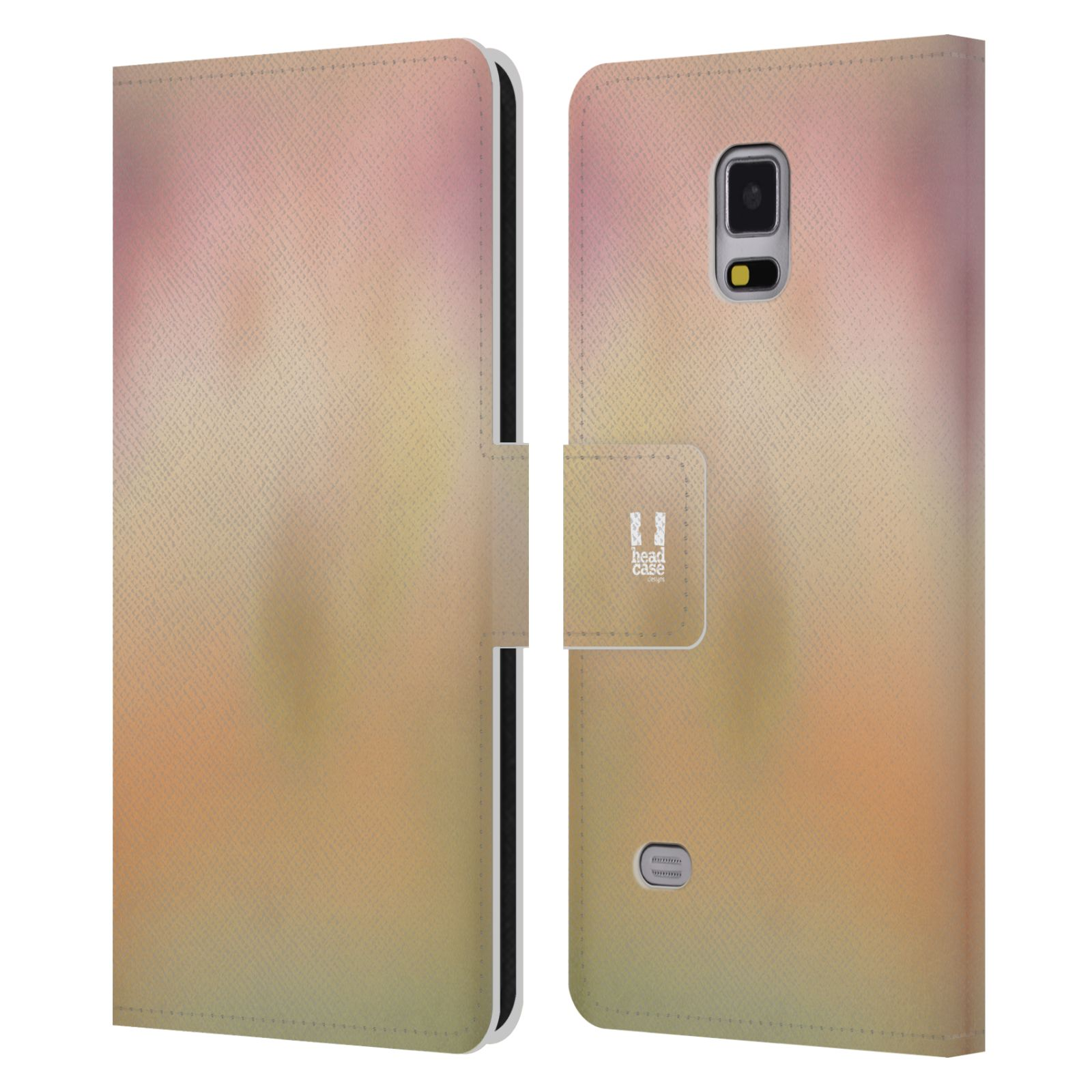 HEAD CASE Flipové pouzdro pro mobil Samsung Galaxy Note 4 AQUAREL barvy NOSTALGIE