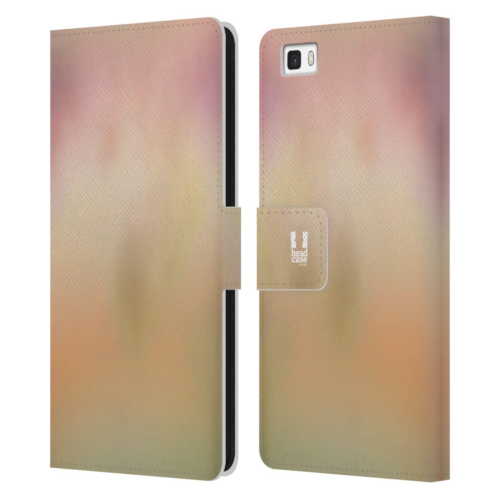 HEAD CASE Flipové pouzdro pro mobil Huawei P8 LITE AQUAREL barvy NOSTALGIE