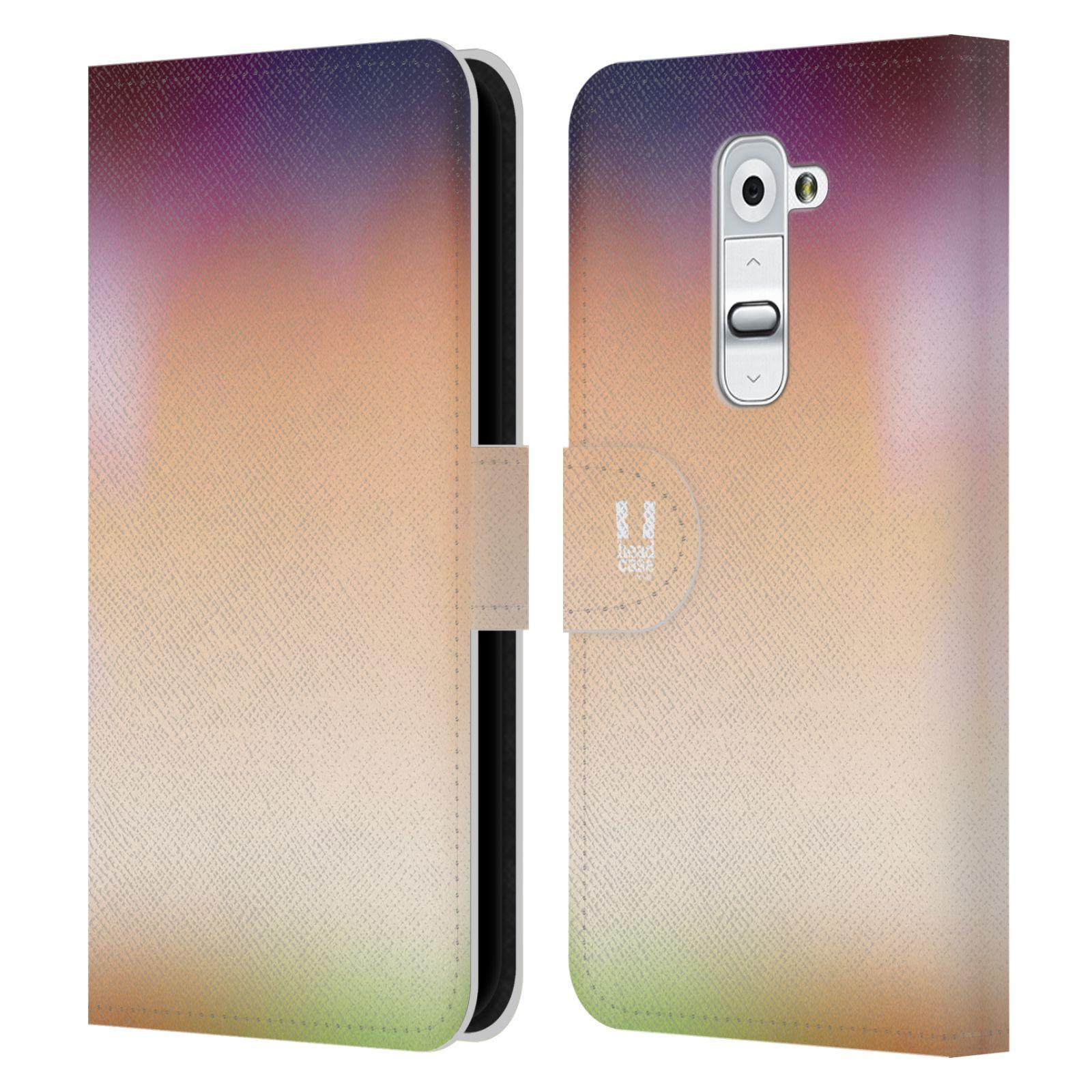 HEAD CASE Flipové pouzdro pro mobil LG G2 (D802) AQUAREL barvy SLUNCE
