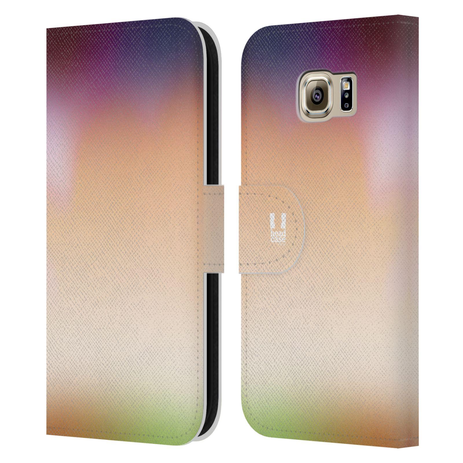 HEAD CASE Flipové pouzdro pro mobil Samsung Galaxy S6 (G9200) AQUAREL barvy SLUNCE