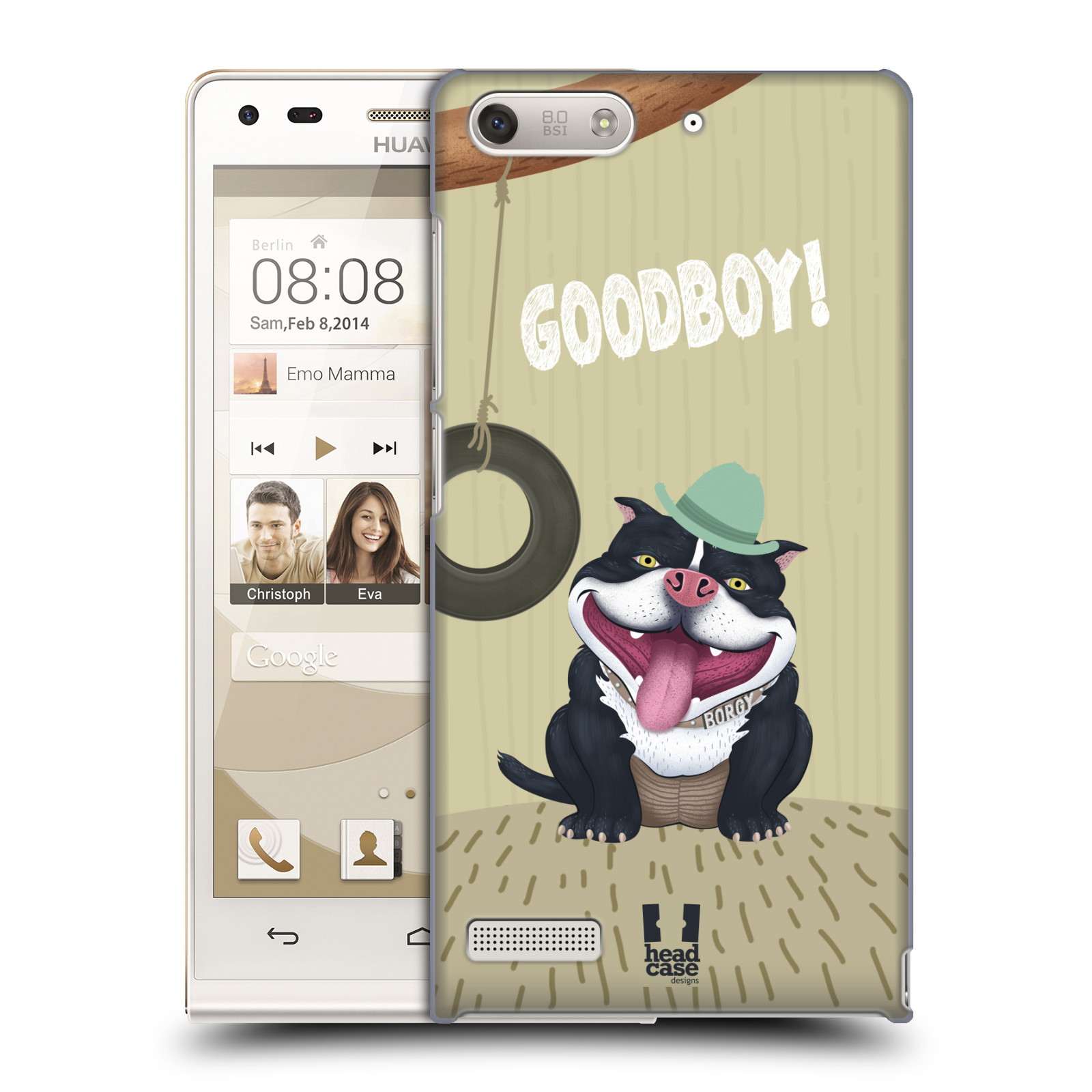 Plastové pouzdro na mobil Huawei Ascend G6 HEAD CASE Goodboy! Pejsek (Kryt či obal na mobilní telefon Huawei Ascend G6 bez LTE)