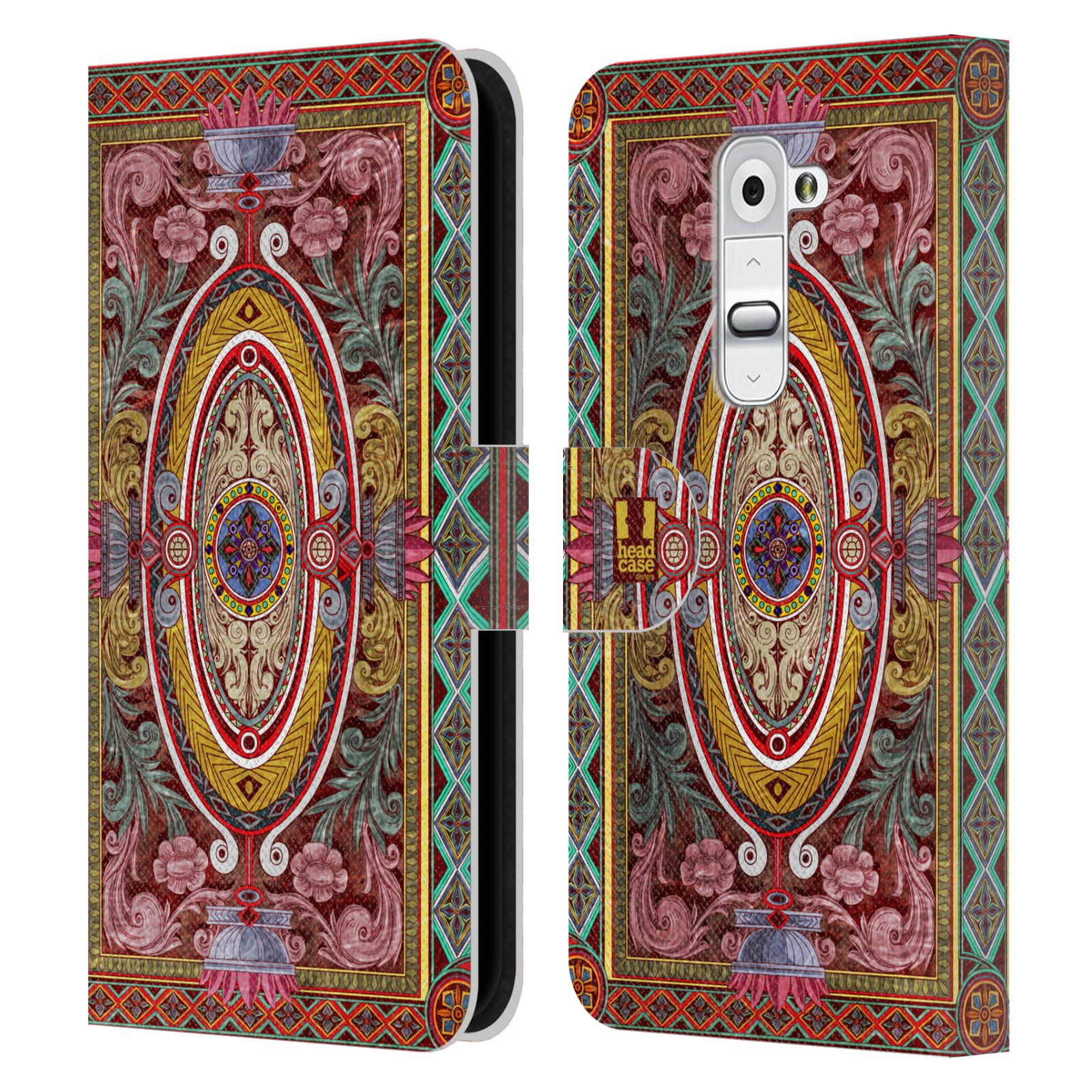 Book Cover Design Pattern : Head case designs arabesque pattern leather book wallet