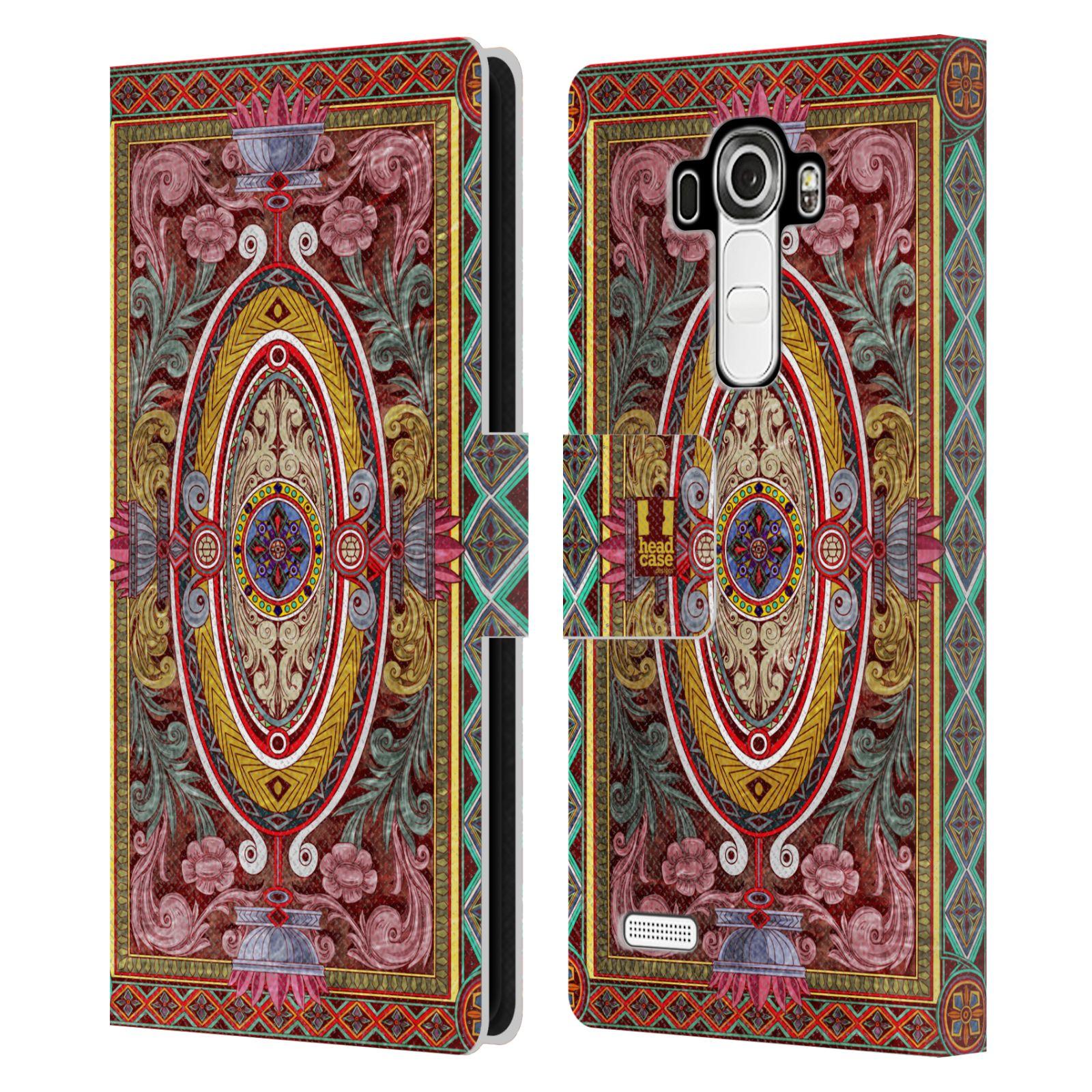 HEAD CASE Flipové pouzdro pro mobil LG G4 (H815) ARABESKA Baroko červená