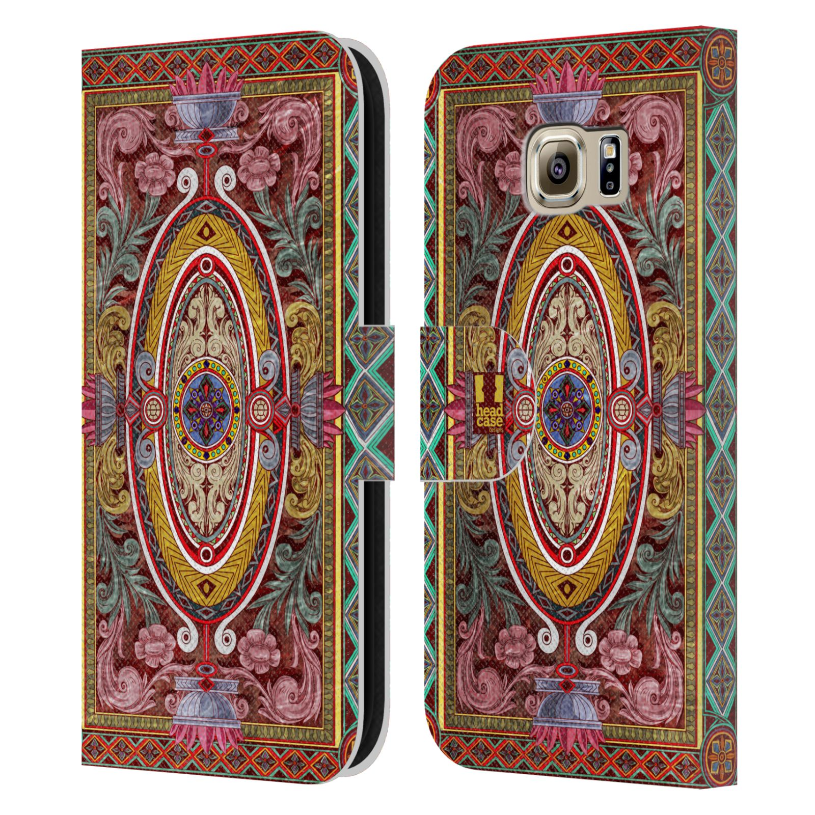Book Cover Pattern Uk : Head case arabesque pattern leather book wallet cover