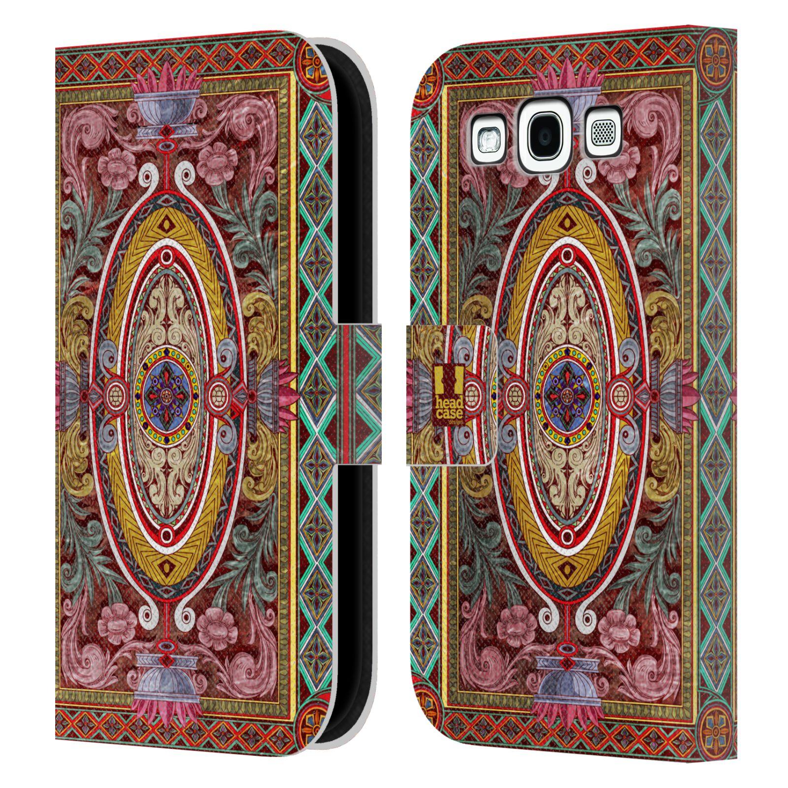 HEAD CASE Flipové pouzdro pro mobil Samsung Galaxy S3 ARABESKA Baroko červená