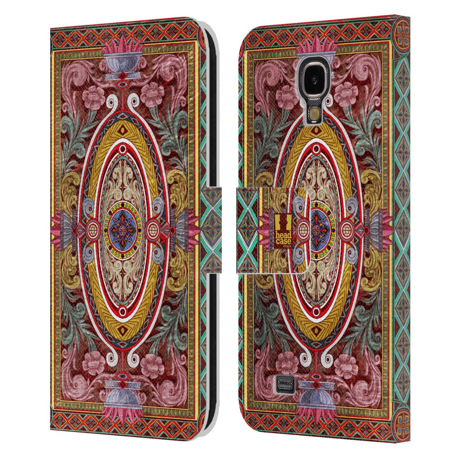 HEAD CASE Flipové pouzdro pro mobil Samsung Galaxy S4 ARABESKA Baroko červená