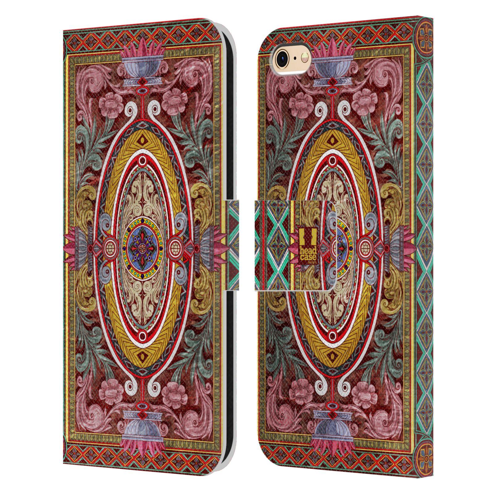 HEAD CASE Flipové pouzdro pro mobil Apple Iphone 6/6s ARABESKA Baroko červená