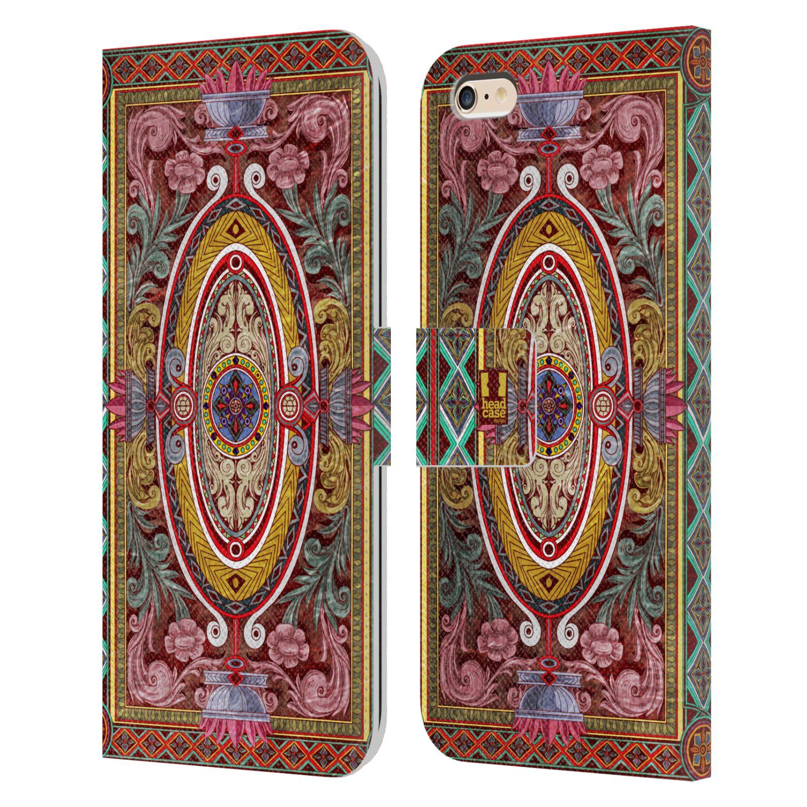HEAD CASE Flipové pouzdro pro mobil Apple Iphone 6 PLUS / 6S PLUS ARABESKA Baroko červená