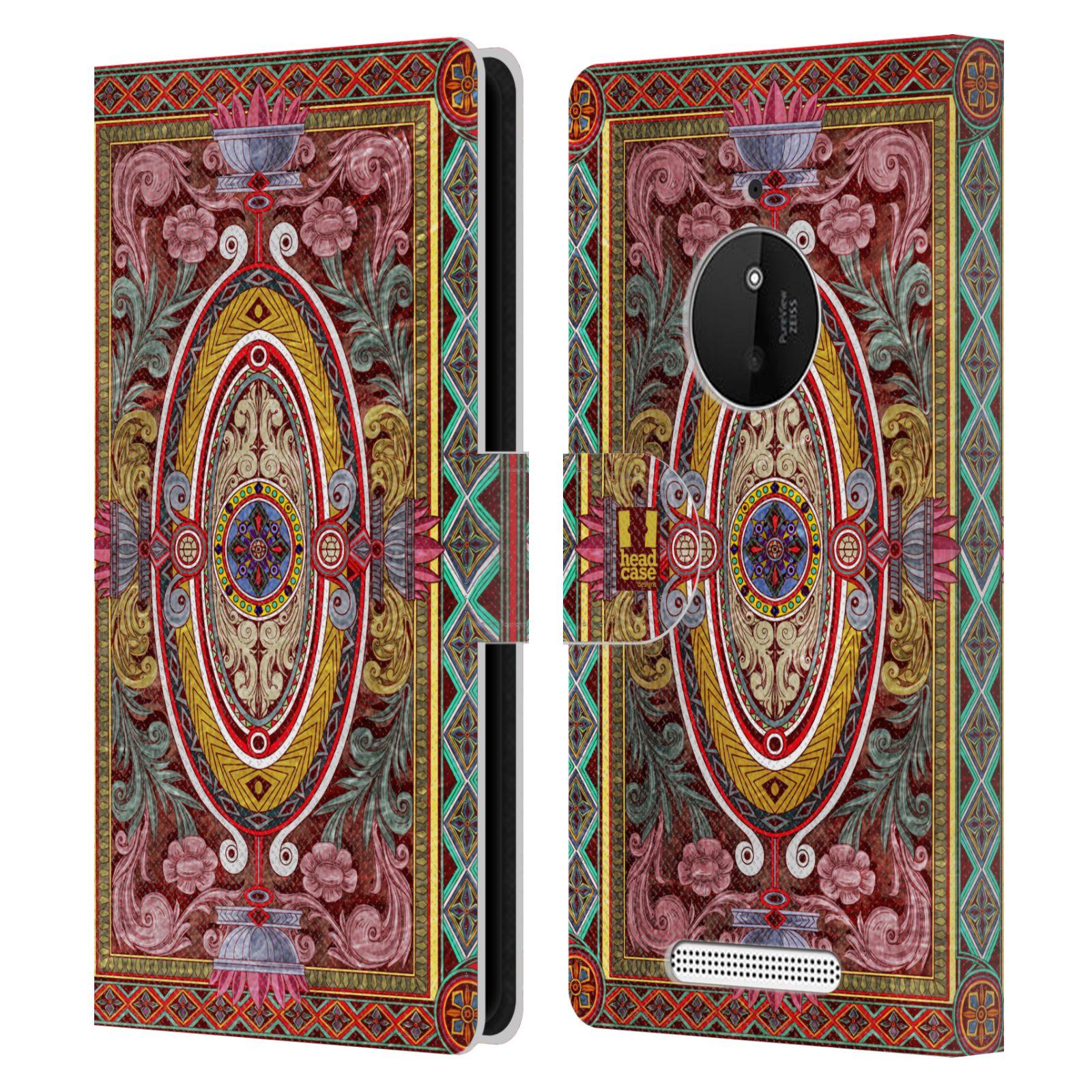 HEAD CASE Flipové pouzdro pro mobil NOKIA LUMIA 830 ARABESKA Baroko červená