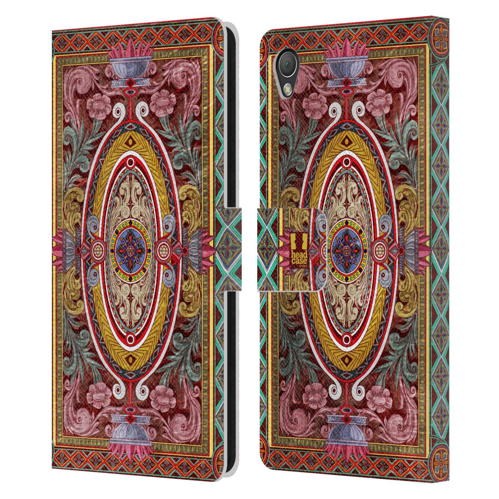 HEAD CASE Flipové pouzdro pro mobil SONY XPERIA Z3 ARABESKA Baroko červená