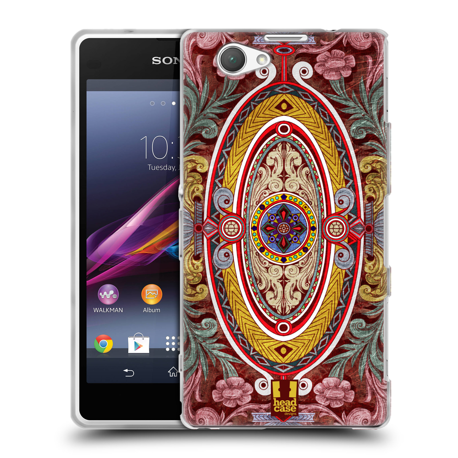 HEAD CASE ARABESQUE PATTERN SILICONE GEL CASE FOR SONY XPERIA Z1 COMPACT D5503