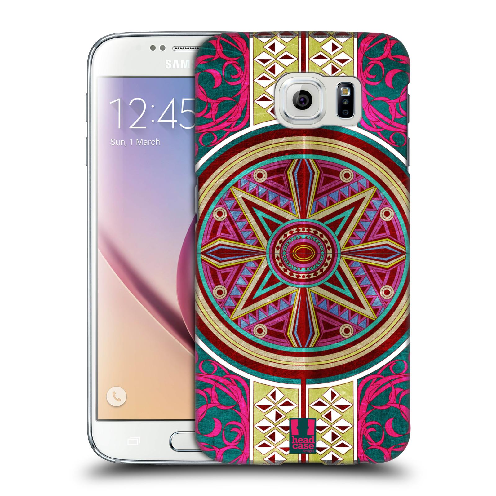 HEAD CASE plastový obal na mobil SAMSUNG Galaxy S6 (G9200, G920F) vzor ARABESKA KUPOLE ČERVENÁ