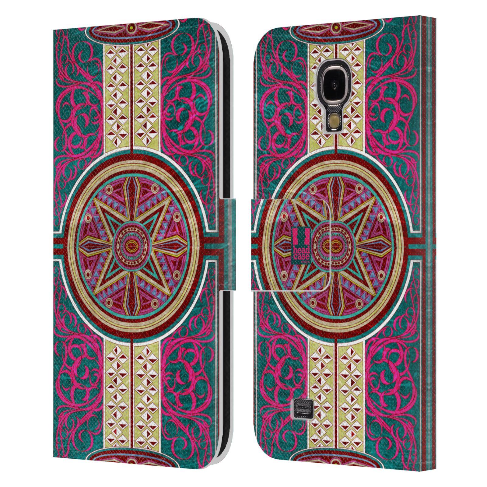 HEAD CASE Flipové pouzdro pro mobil Samsung Galaxy S4 ARABESKA Baroko rudá kruh