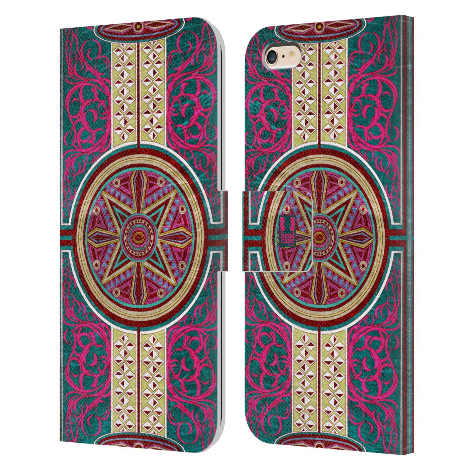 HEAD CASE Flipové pouzdro pro mobil Apple Iphone 6 PLUS / 6S PLUS ARABESKA Baroko rudá kruh