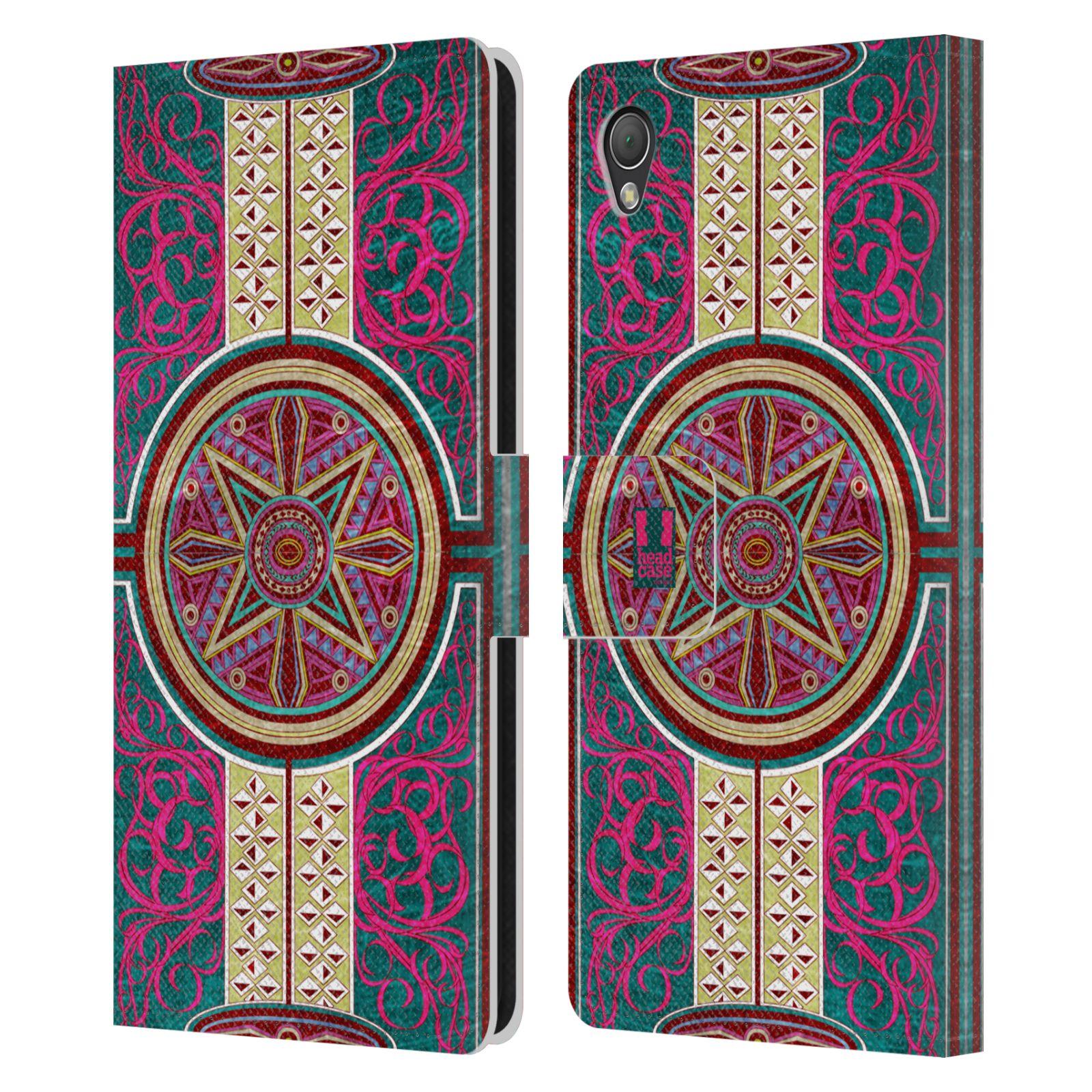 HEAD CASE Flipové pouzdro pro mobil SONY XPERIA Z3 ARABESKA Baroko rudá kruh