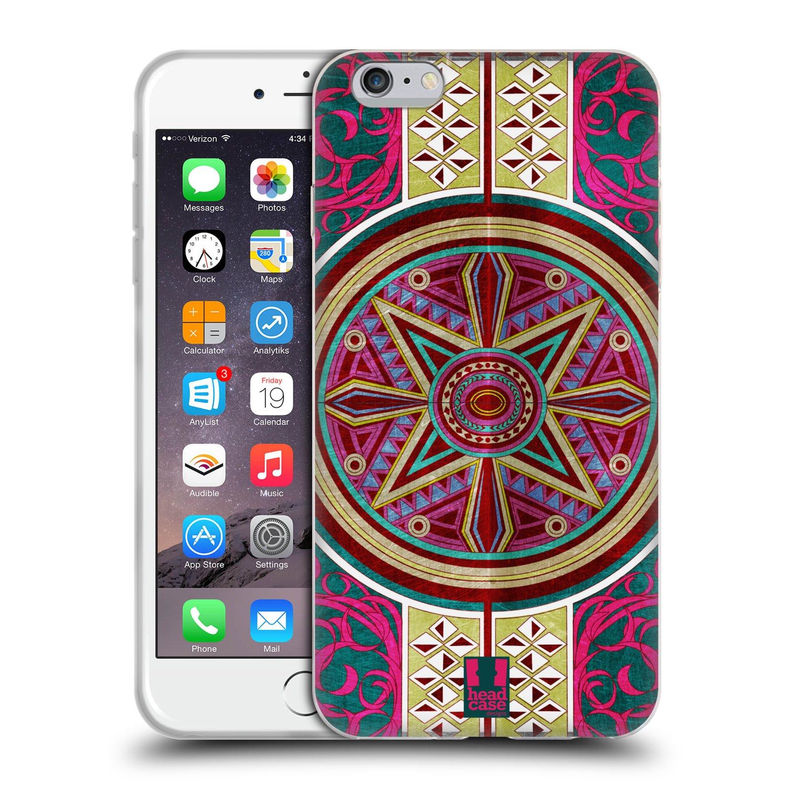 HEAD CASE silikonový obal na mobil Apple Iphone 6 PLUS/ 6S PLUS vzor ARABESKA KUPOLE ČERVENÁ