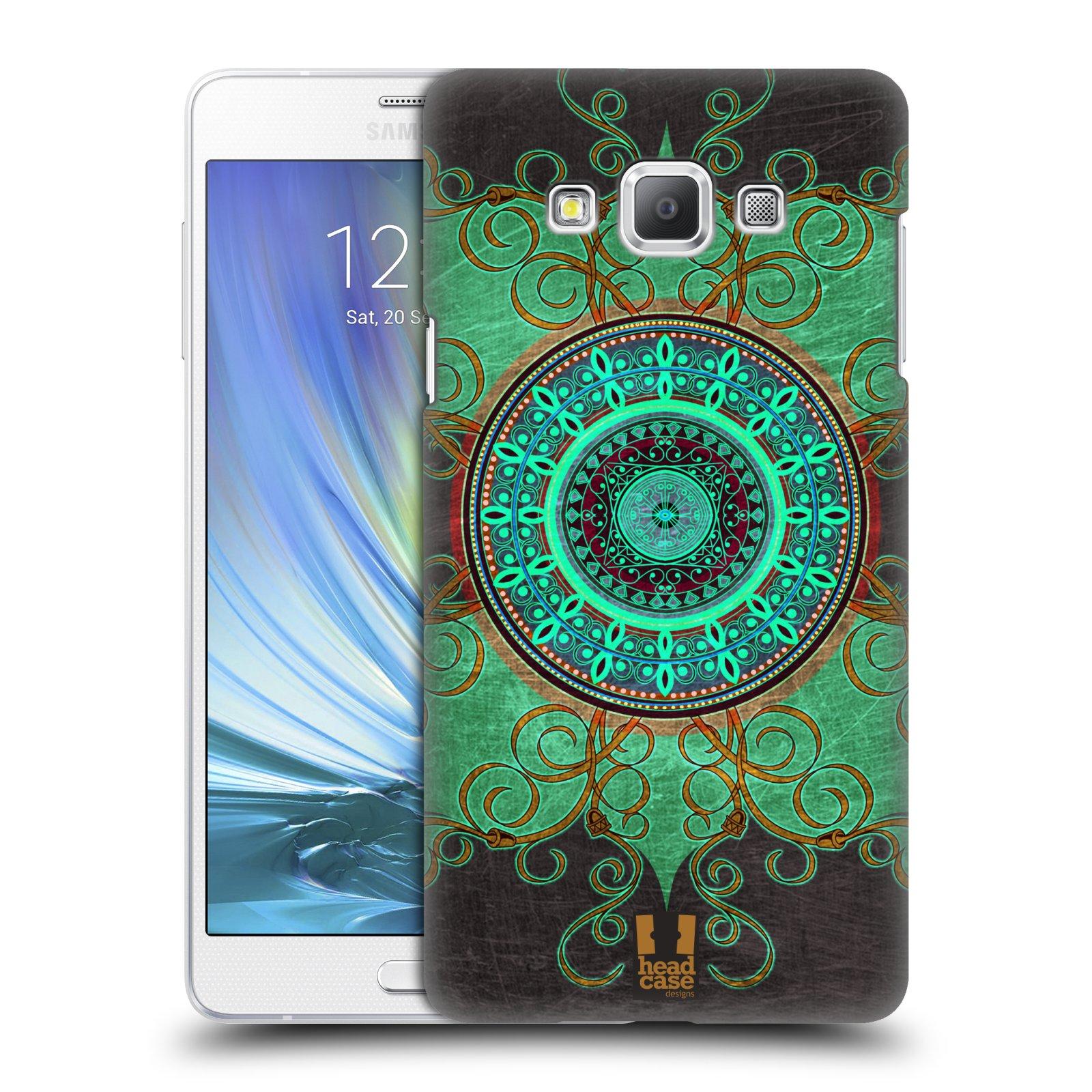 HEAD CASE plastový obal na mobil SAMSUNG GALAXY A7 vzor ARABESKA MANDALA ZELENÁ