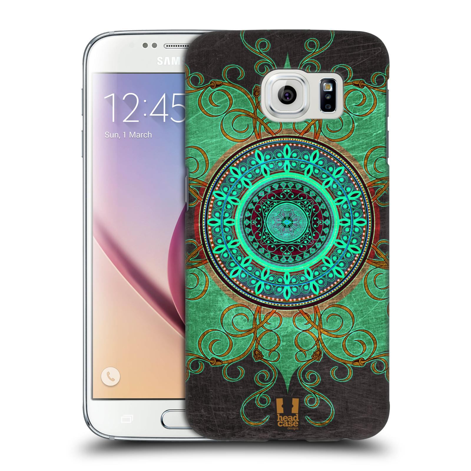 HEAD CASE plastový obal na mobil SAMSUNG Galaxy S6 (G9200, G920F) vzor ARABESKA MANDALA ZELENÁ