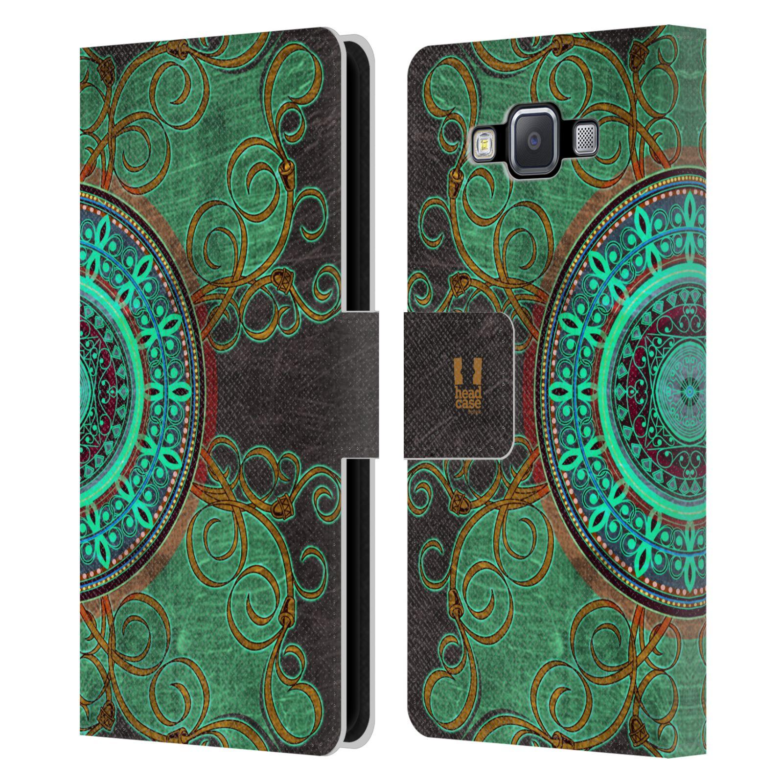 HEAD CASE Flipové pouzdro pro mobil Samsung Galaxy A5 ARABESKA mandala zelená