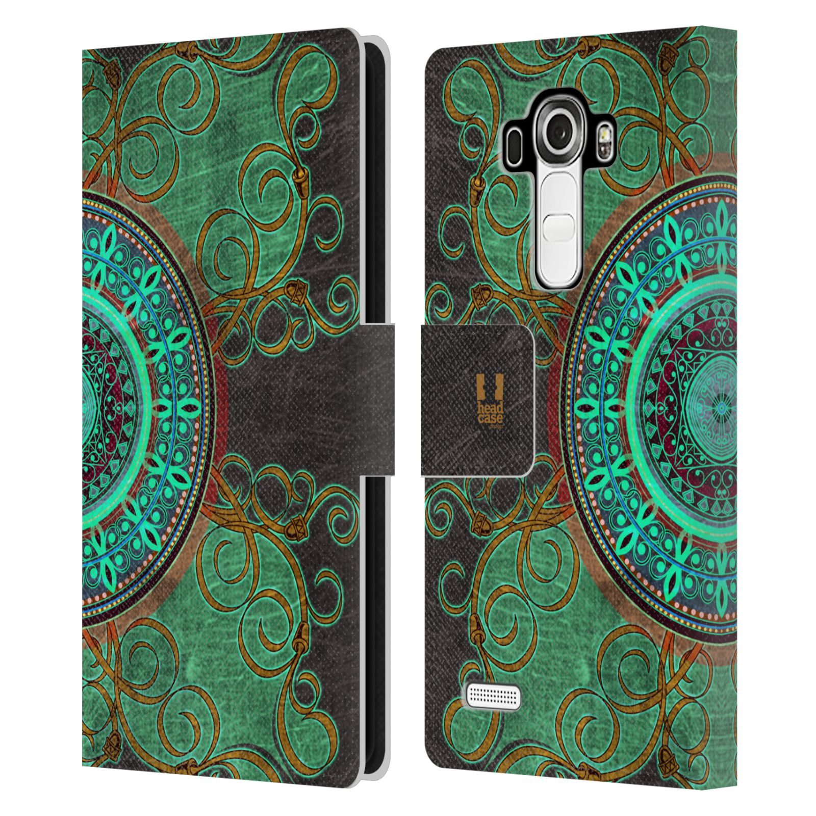 Leather Book Cover Pattern : Head case designs arabesque pattern leather book wallet